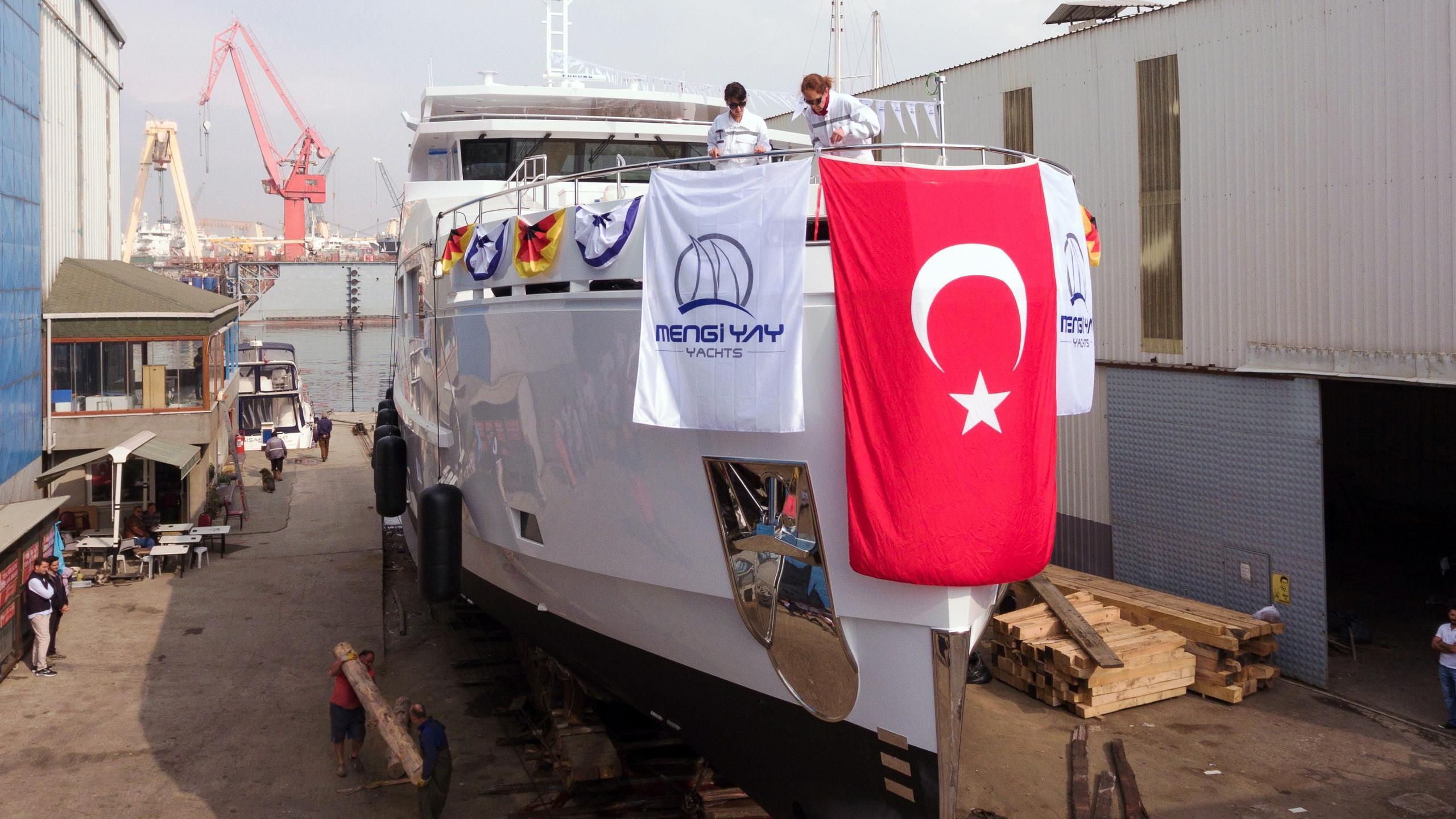 serenitas ii motoryacht mengi yay 32m 2017 launch bow