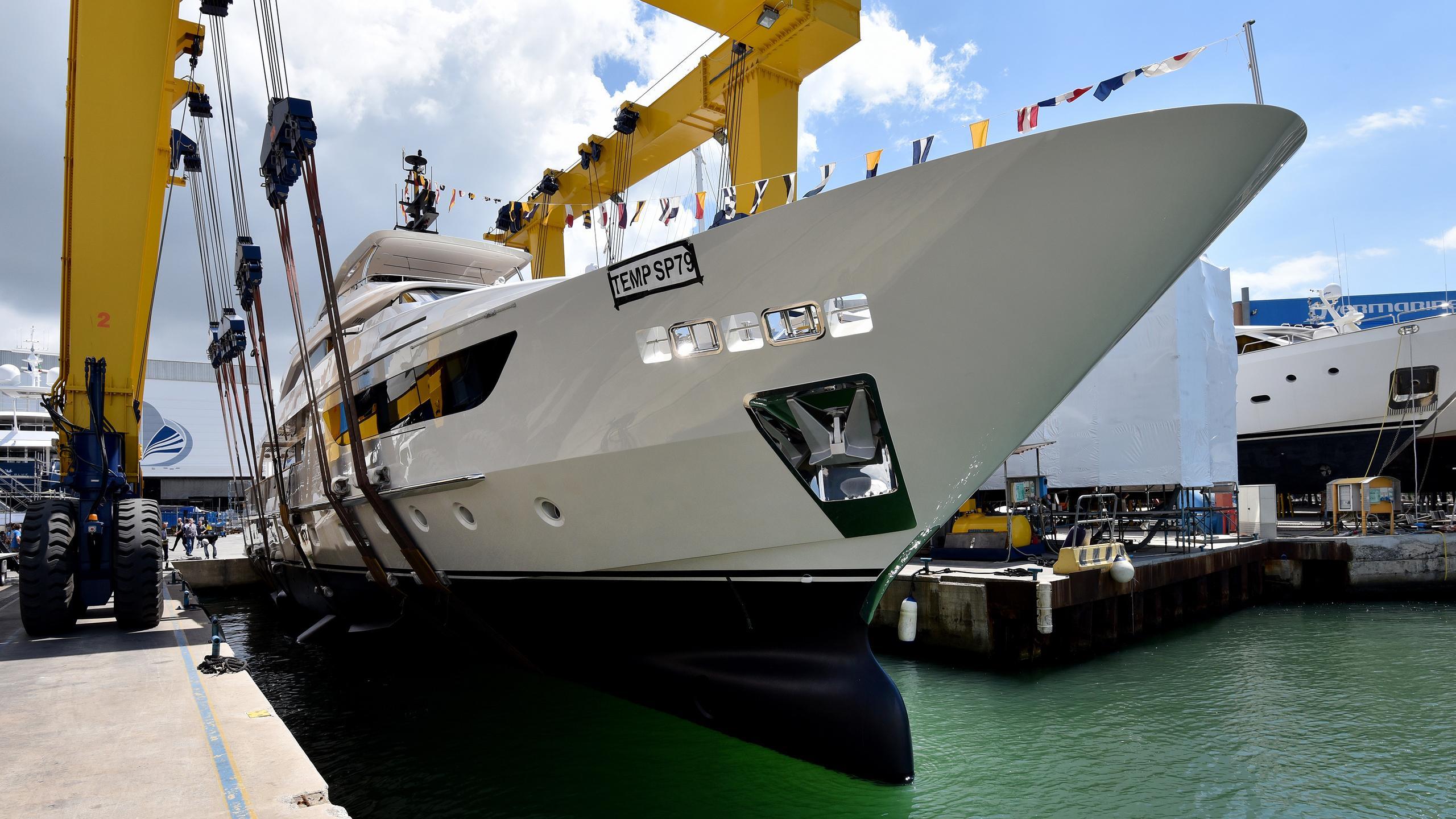sim sim motoryacht sanlorenzo sd126 38m 2017 launch half profile