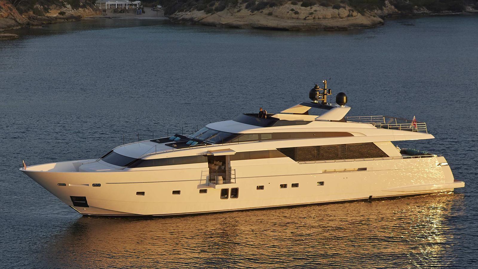 h1 motoryacht sanlorenzo sl118 36m 2014 half profile