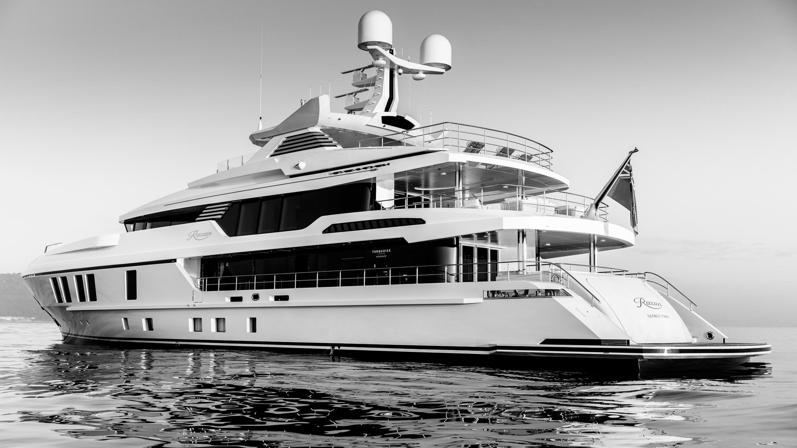roe razan motoryacht turquoise yachts 2017 47m half stern