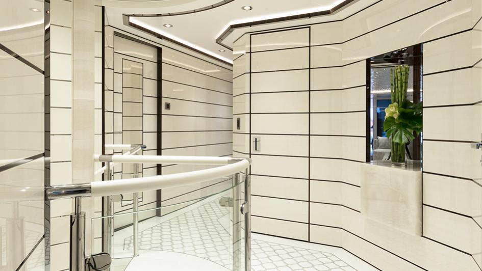 roe razan motoryacht turquoise yachts 2017 47m staircase