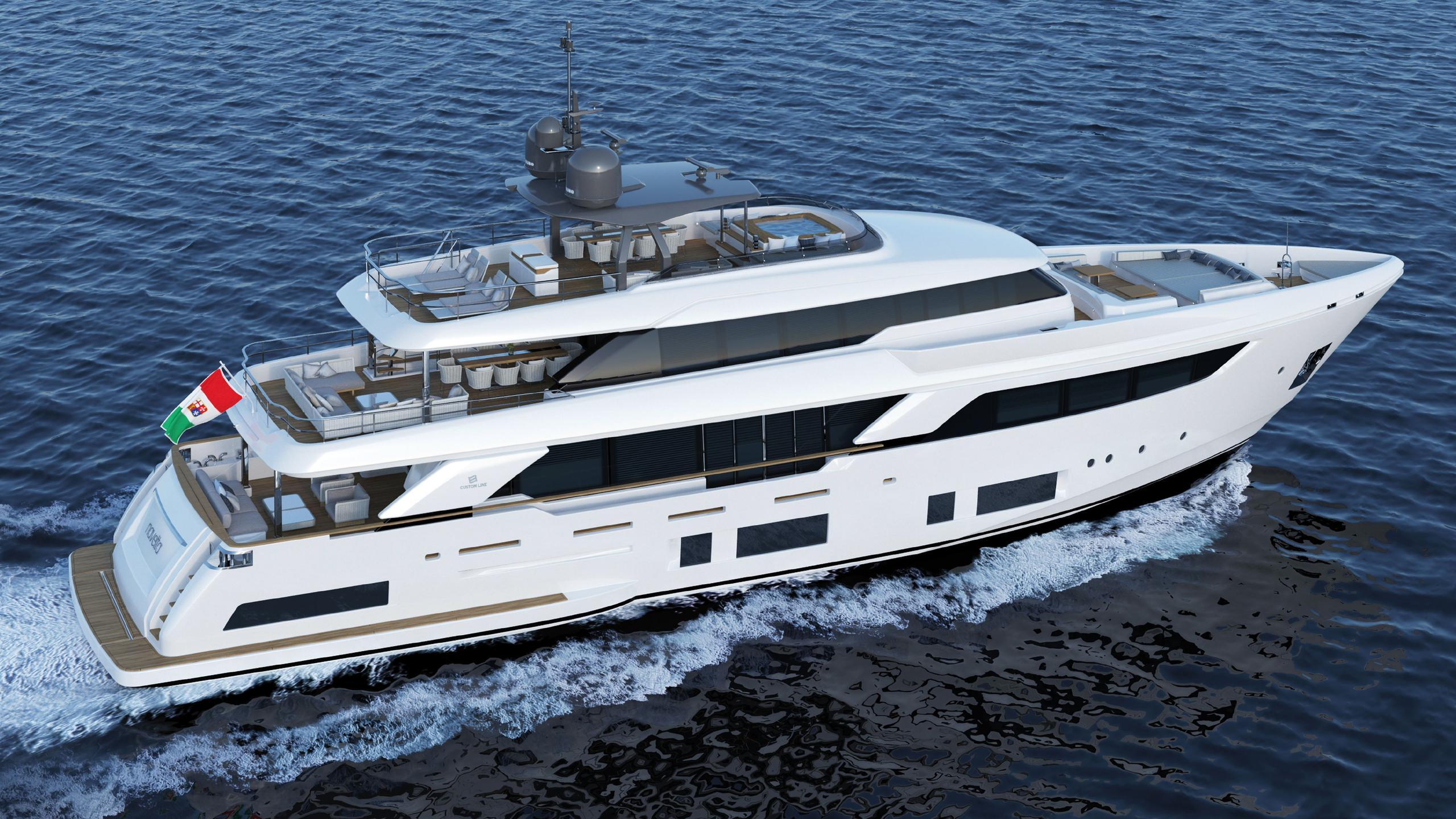 navetta 37 motoryacht ferretti custom line 2018 37m rendering