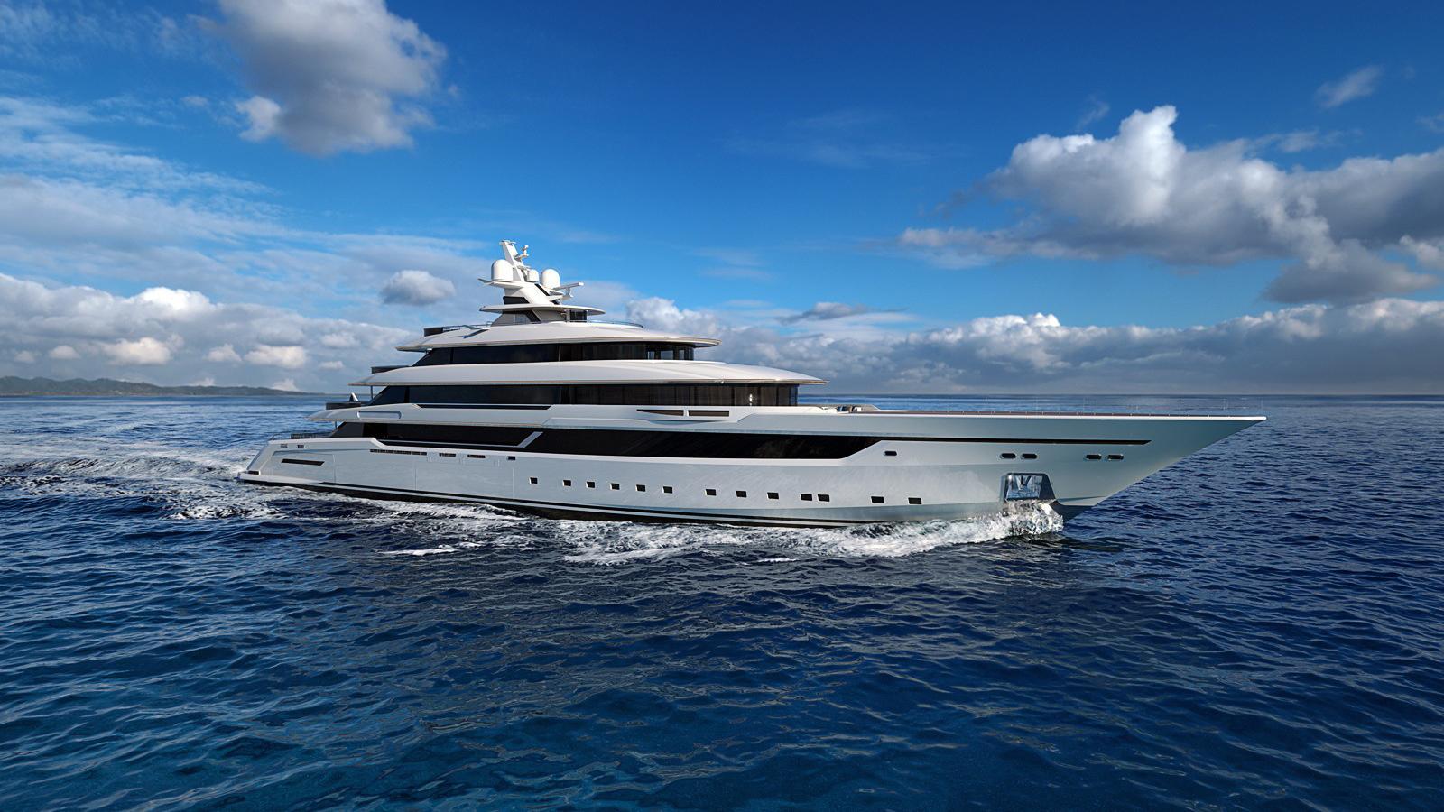 columbus classic 80m motoryacht palumbo 80m 2018 rendering half profile