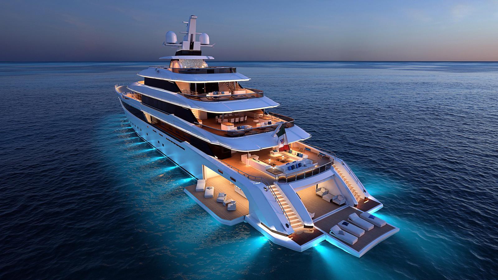 columbus classic 80m motoryacht palumbo 80m 2018 rendering half stern