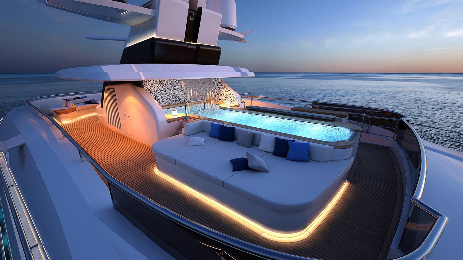 columbus classic 80m motoryacht palumbo 80m 2018 rendering sundeck