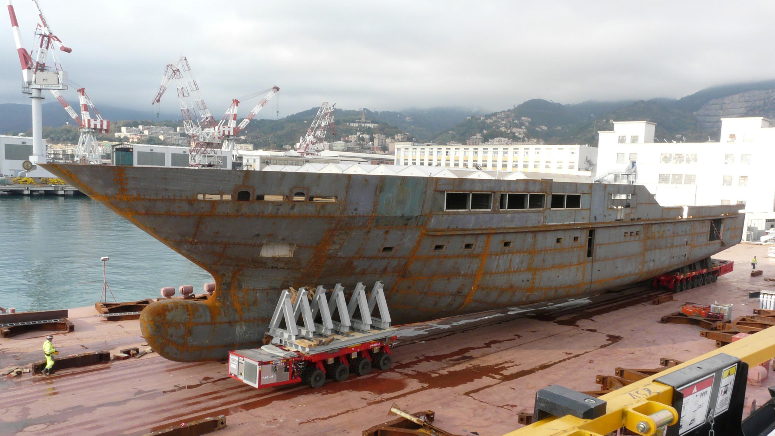 solo s701 motoryacht tankoa yachts 72m 2018 under construction hull