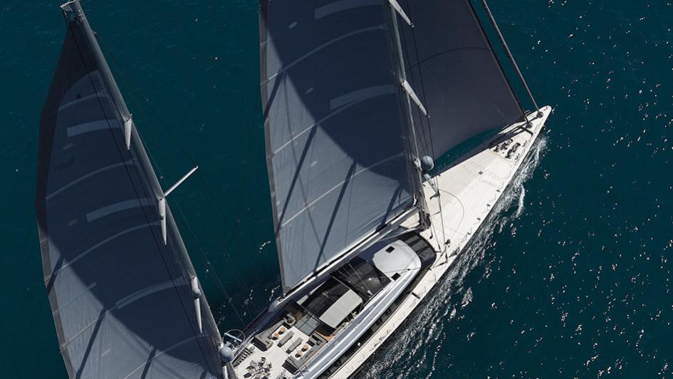 sybaris sailing yacht perini navi 2016 70m aerial