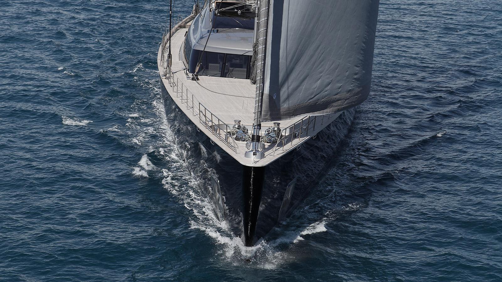 sybaris sailing yacht perini navi 2016 70m bow