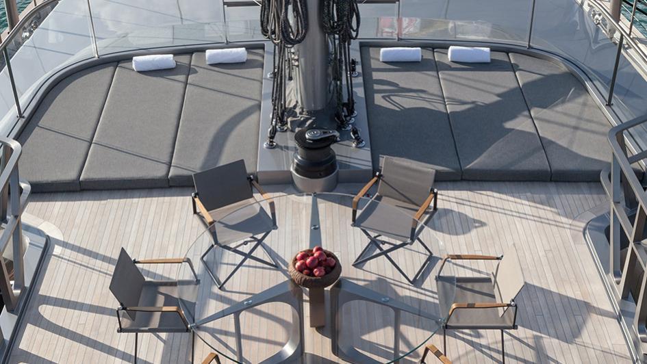 sybaris sailing yacht perini navi 2016 70m aerial sundeck