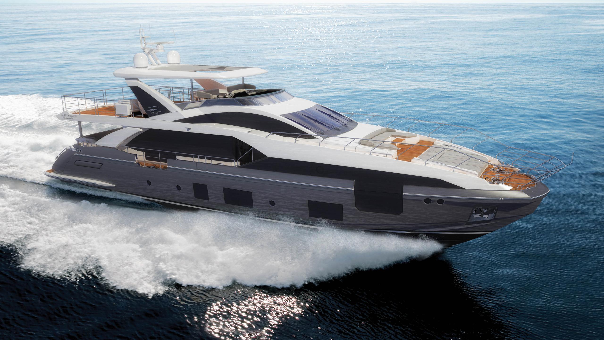 grande 27 metri motoryacht azimut yachts 27m 2017 rendering profile