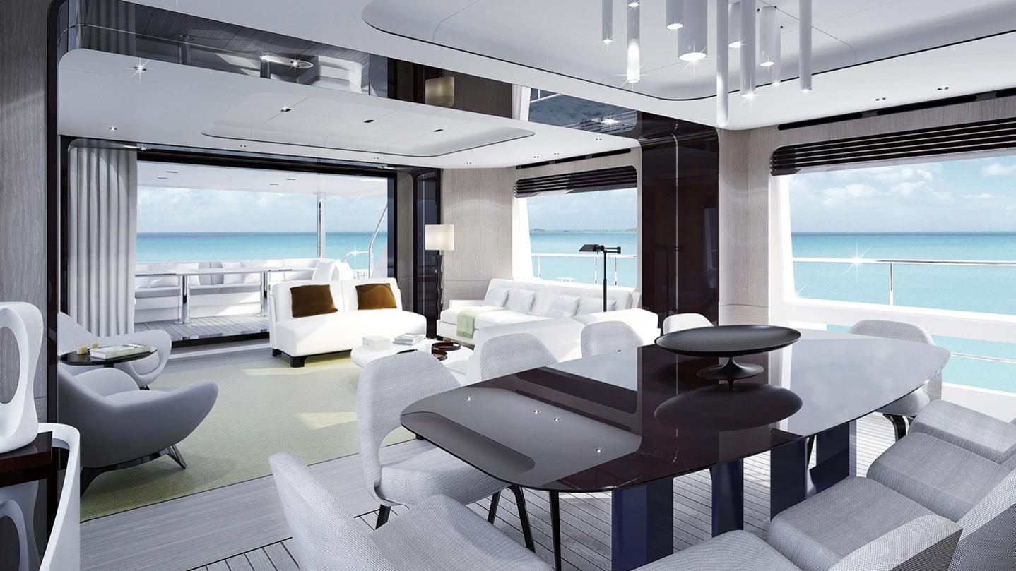 grande 27 metri motoryacht azimut yachts 27m 2017 rendering saloon