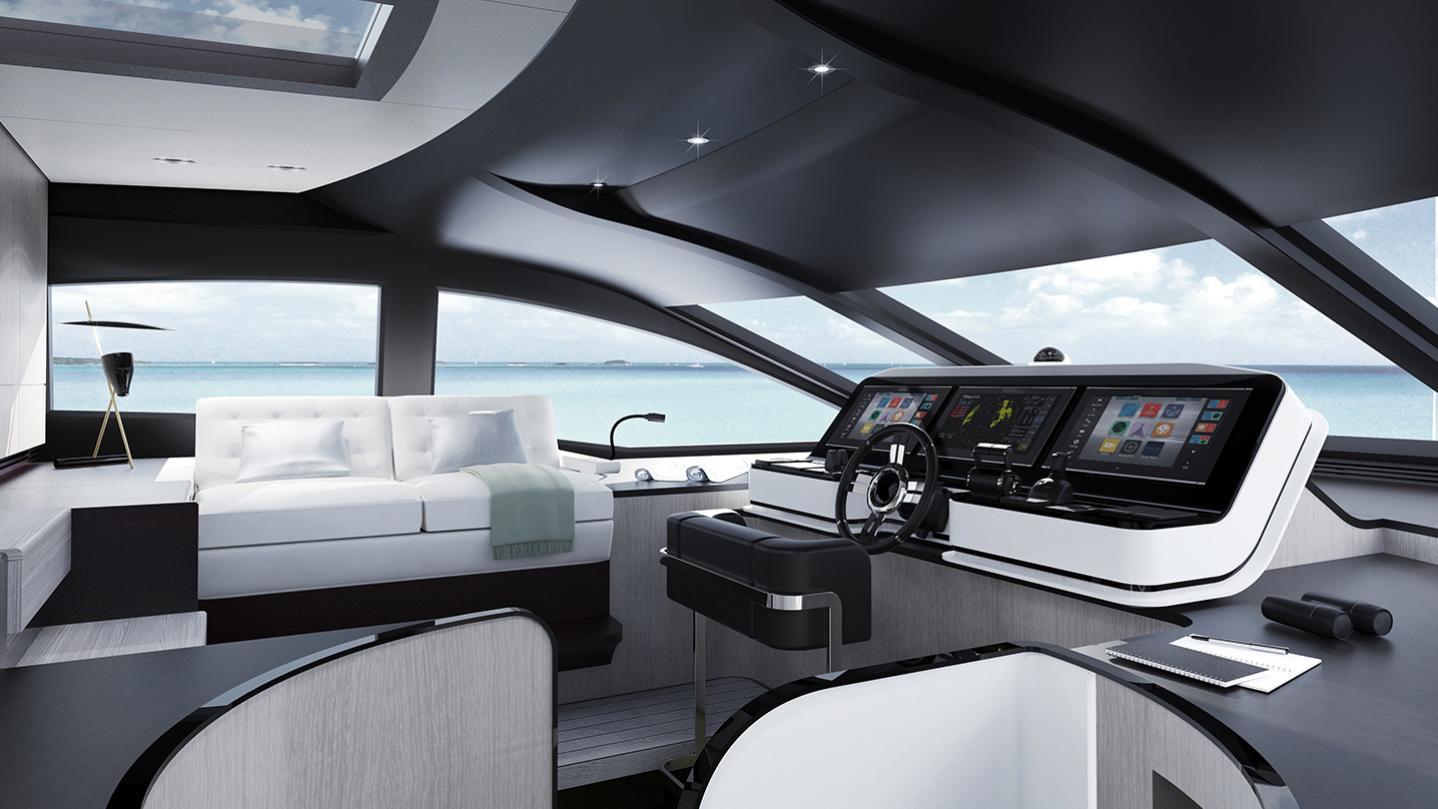 grande 27 metri motoryacht azimut yachts 27m 2018 rendering wheelhouse