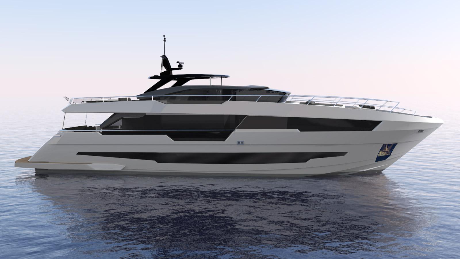 century 100 motoryacht astondoa 30m 2017 rendering