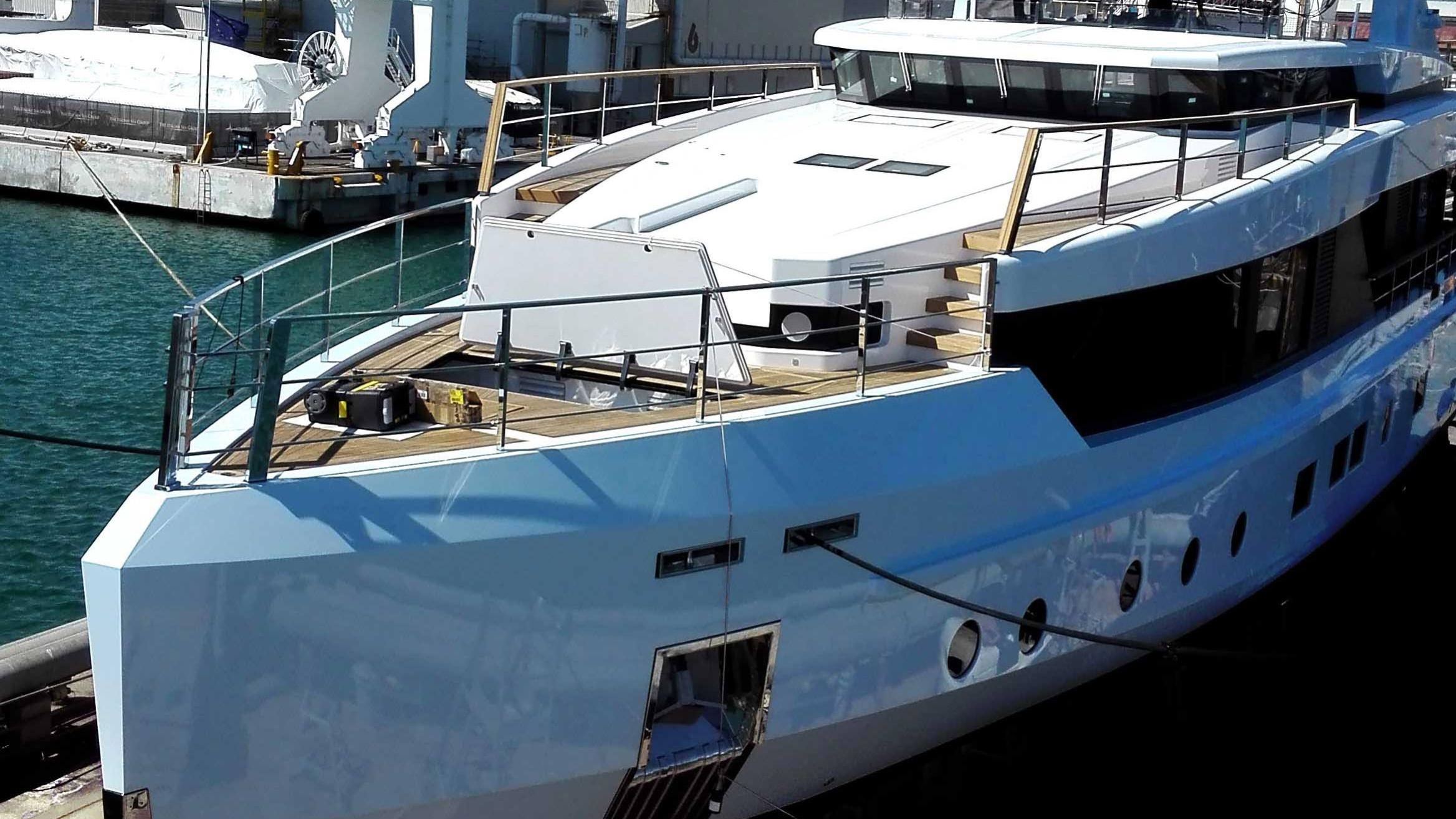 sage motoryacht admiral impero 40m 2017 launch aerial bow