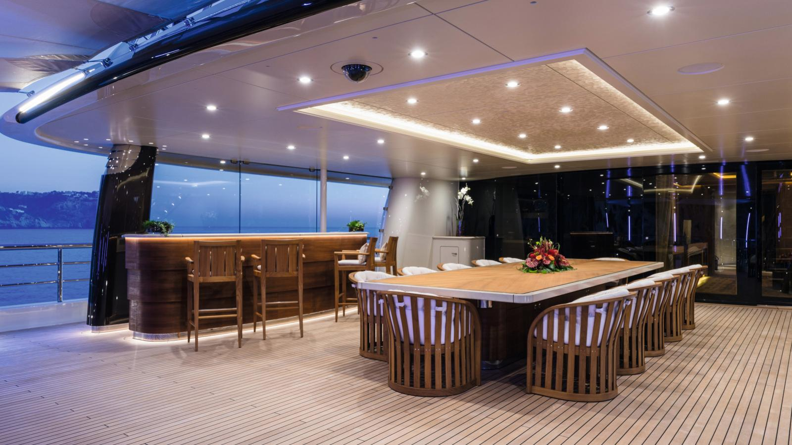 here comes the sun motoryacht amels le 272 2016 83m aft deck