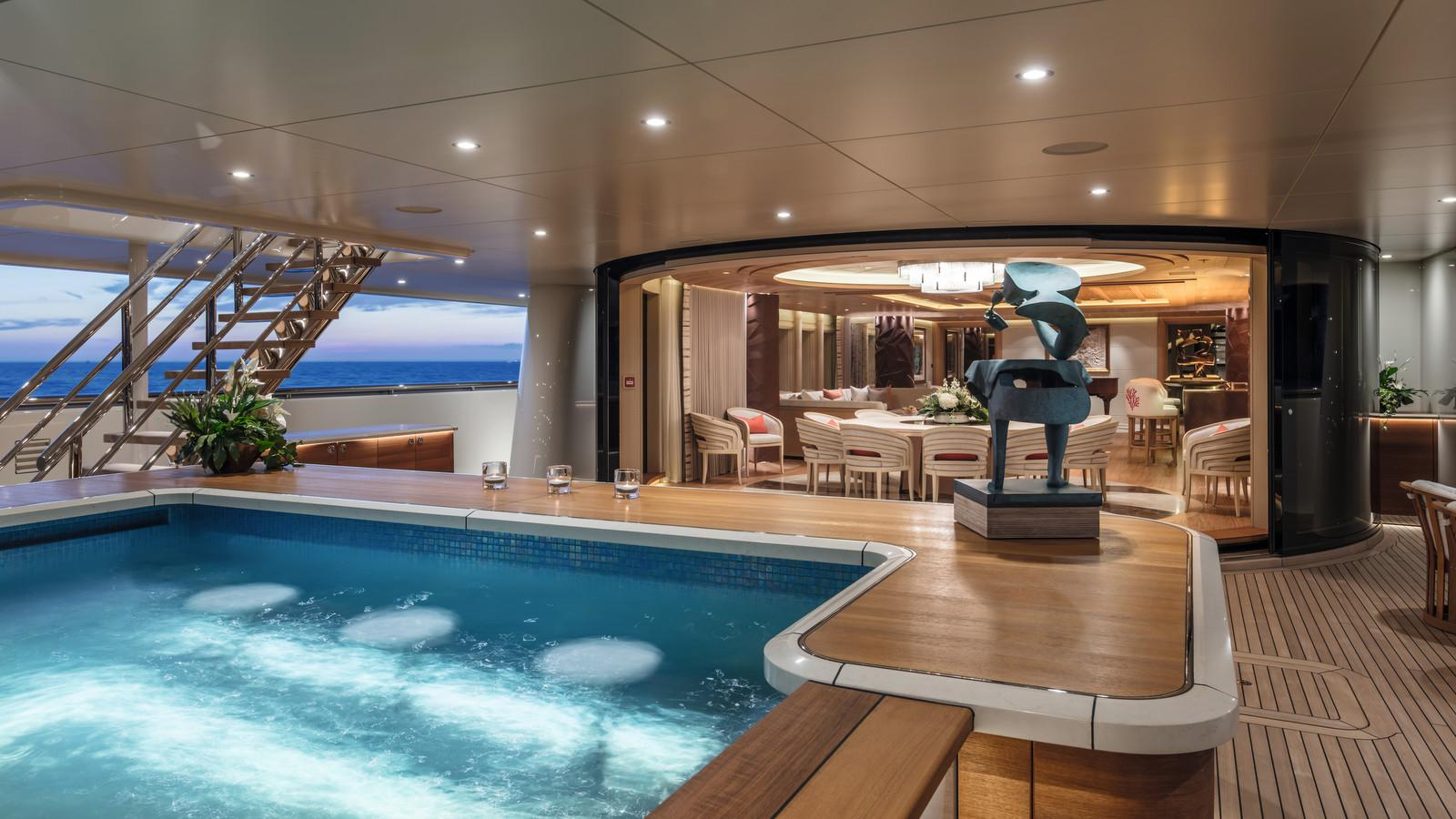 here comes the sun motoryacht amels le 272 2016 83m pool deck