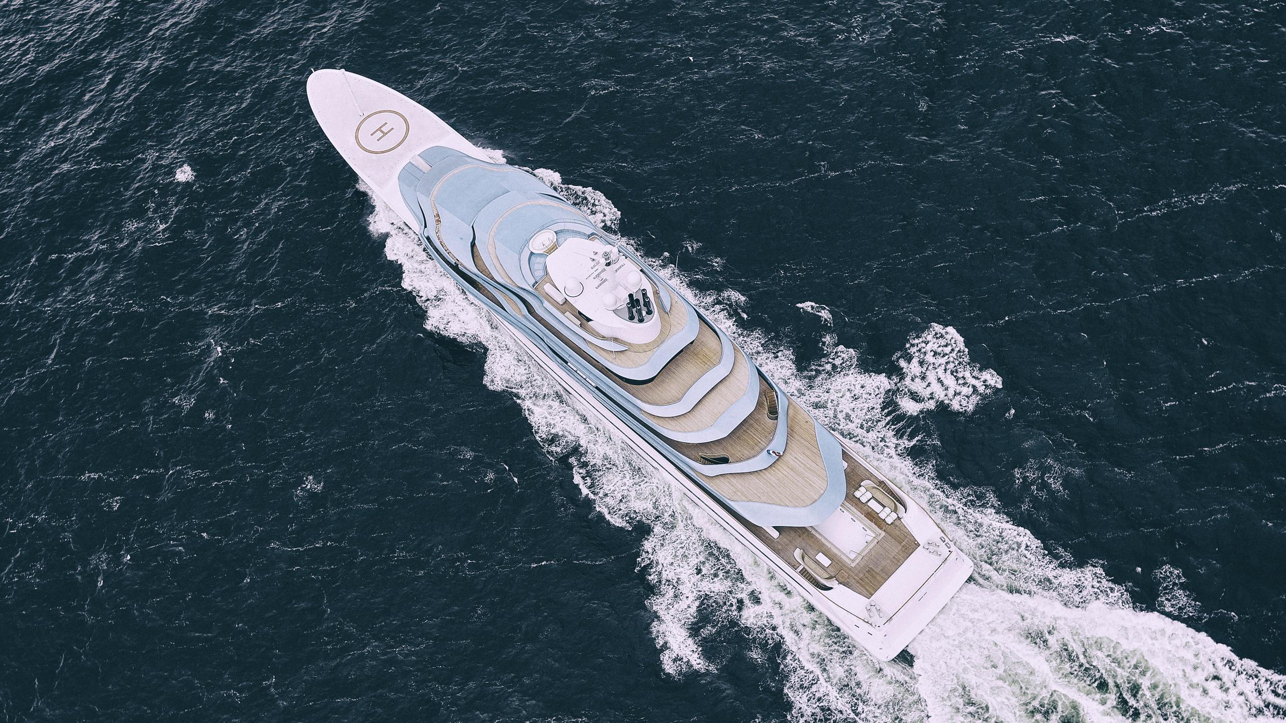 jubilee motoryacht oceanco y714 110m 2017 aerial