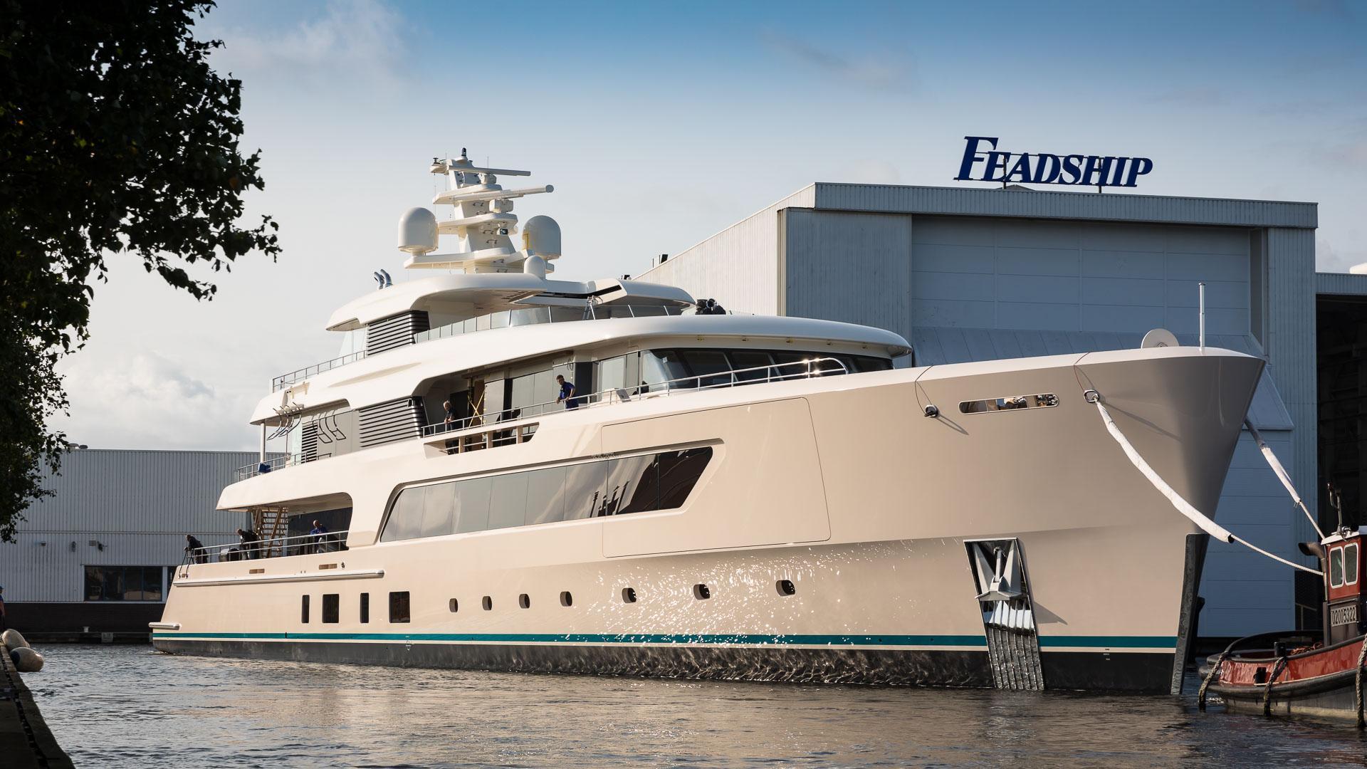 samaya hull 696 motoryacht feadship 2017 69m launch half profile