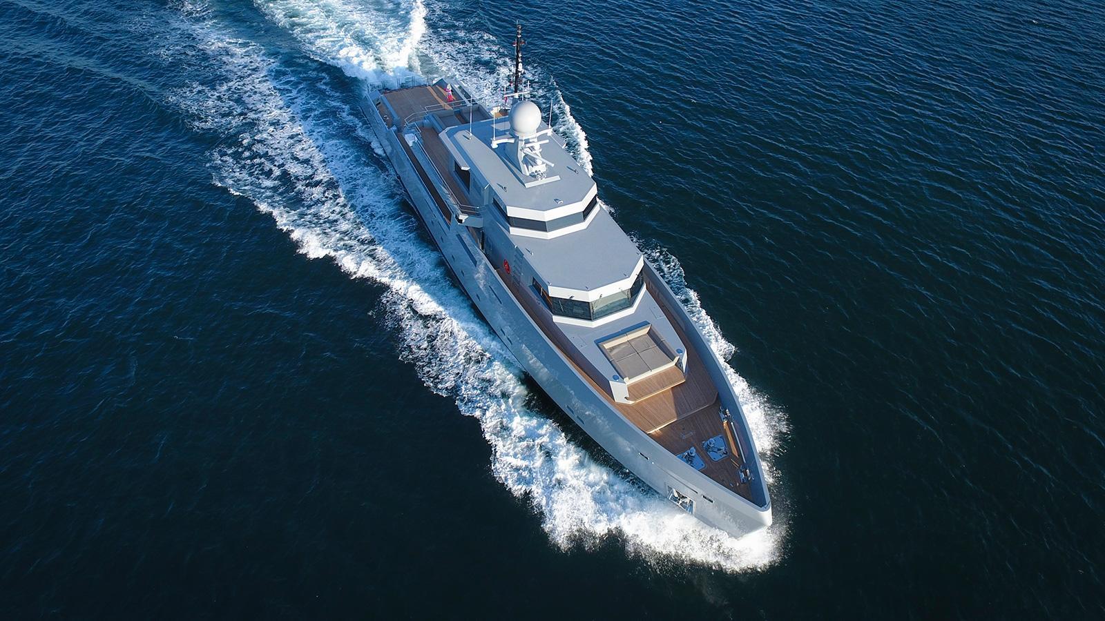 cyclone motoryacht tansu yachts 44m 2017 aerial