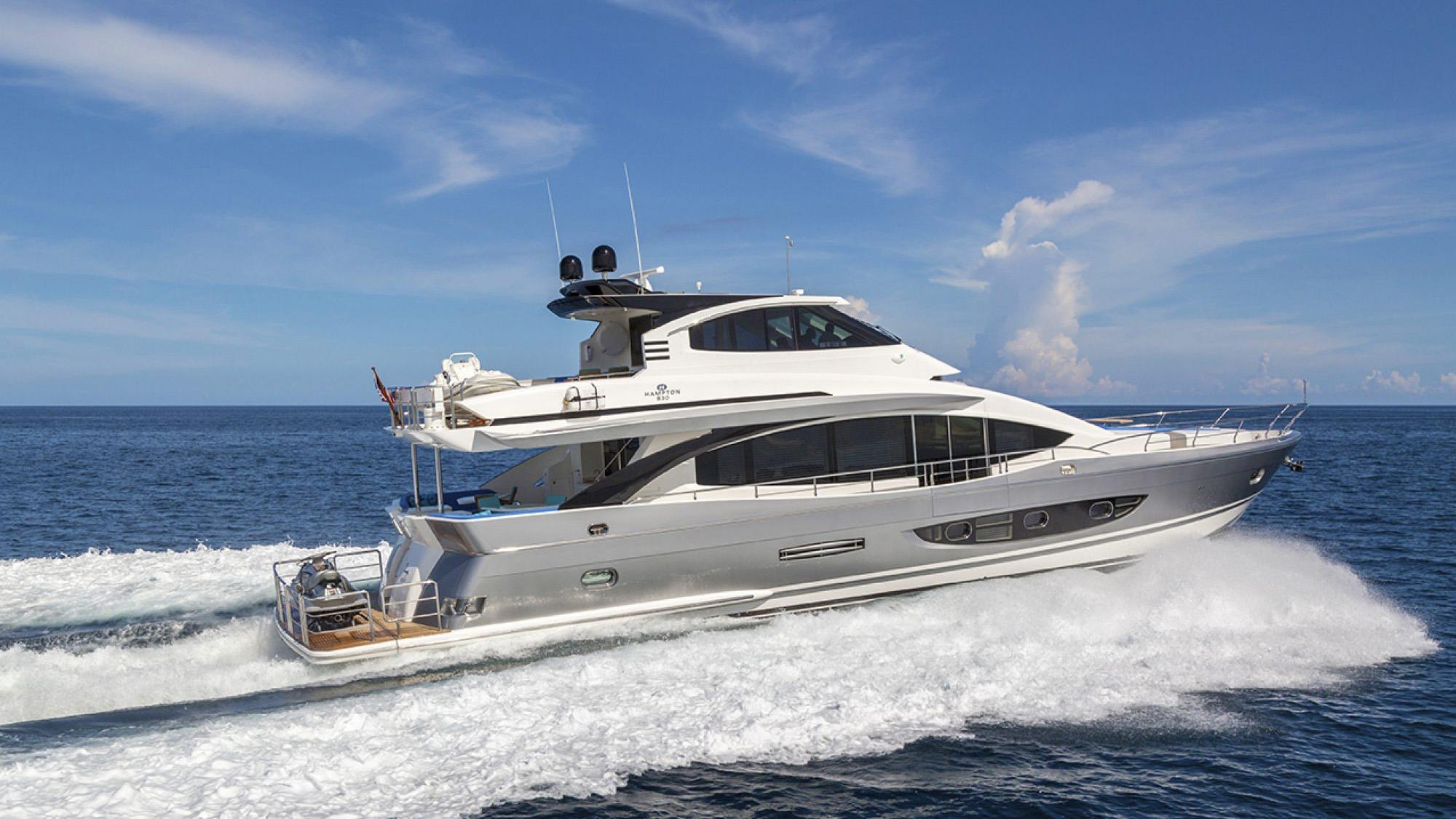 hampton 830 motoryacht hampton yachts 25m profile sistership