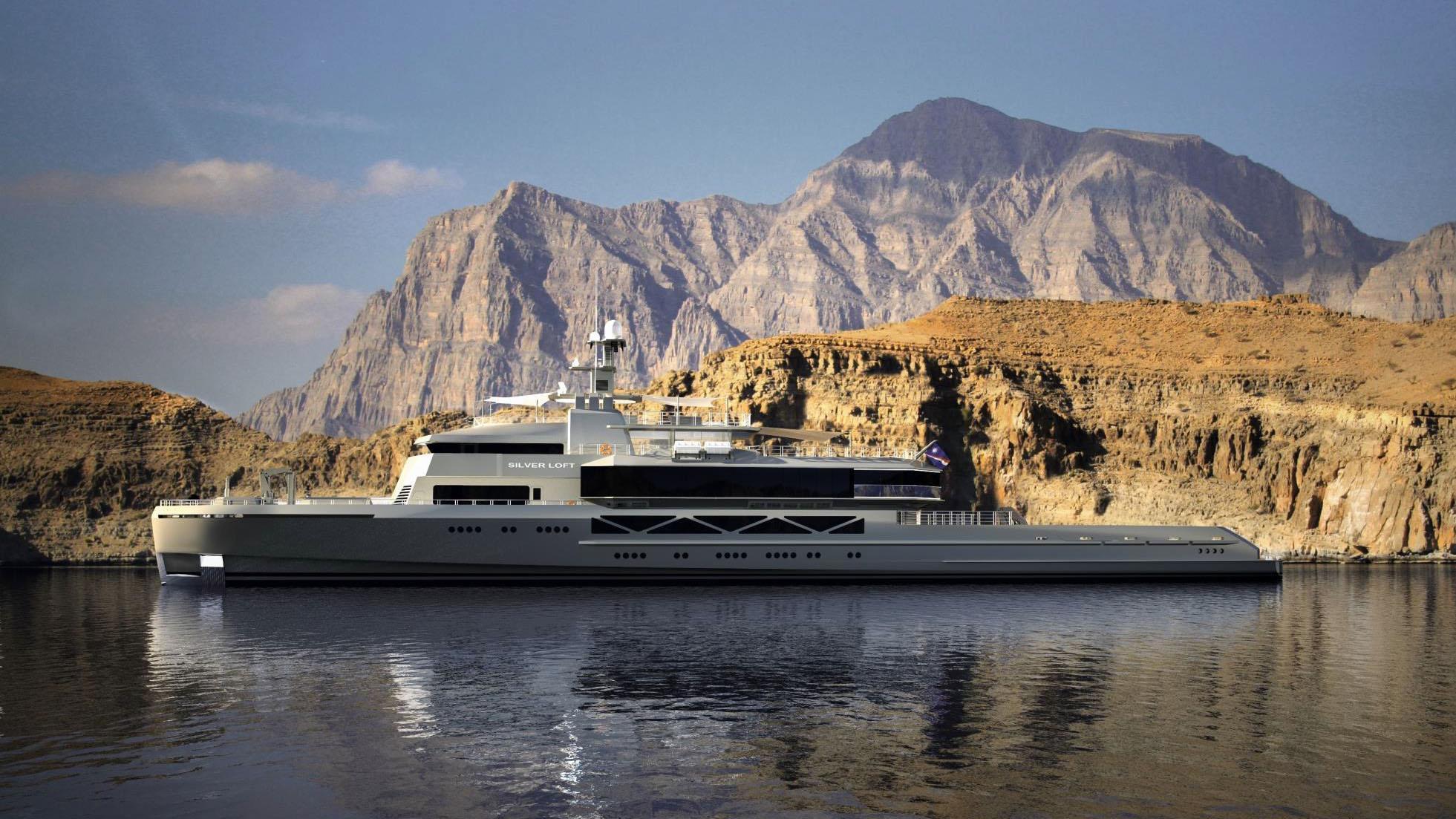 silver loft motoryacht silver yachts 85m 2019 rendering profile
