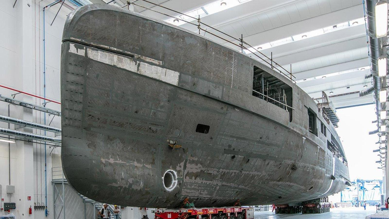 crn hull 137 motoryacht crn 2019 62m under construction