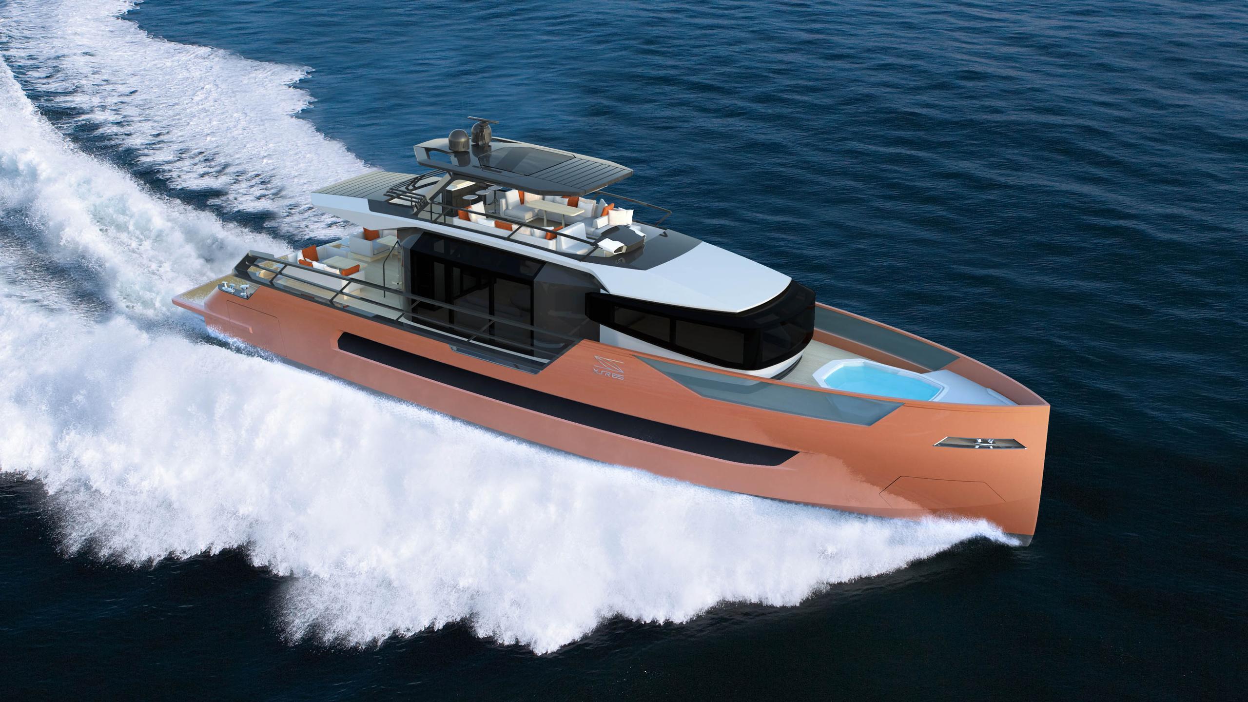 xsr 85 motoryacht sarp yachts 26m 2019 rendering half profile