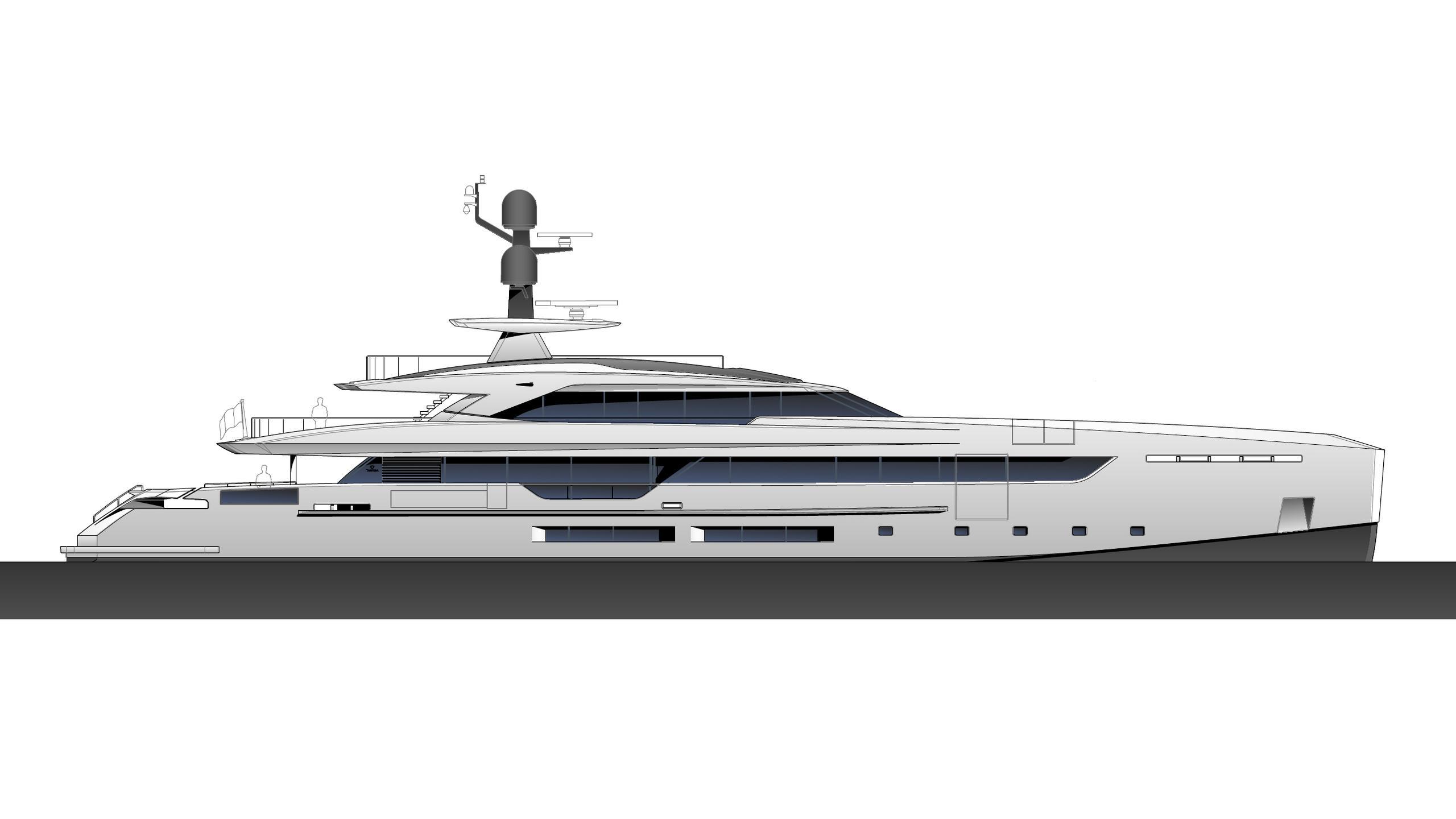 elettra motoryacht tankoa yachts 50m 2019 rendering profile