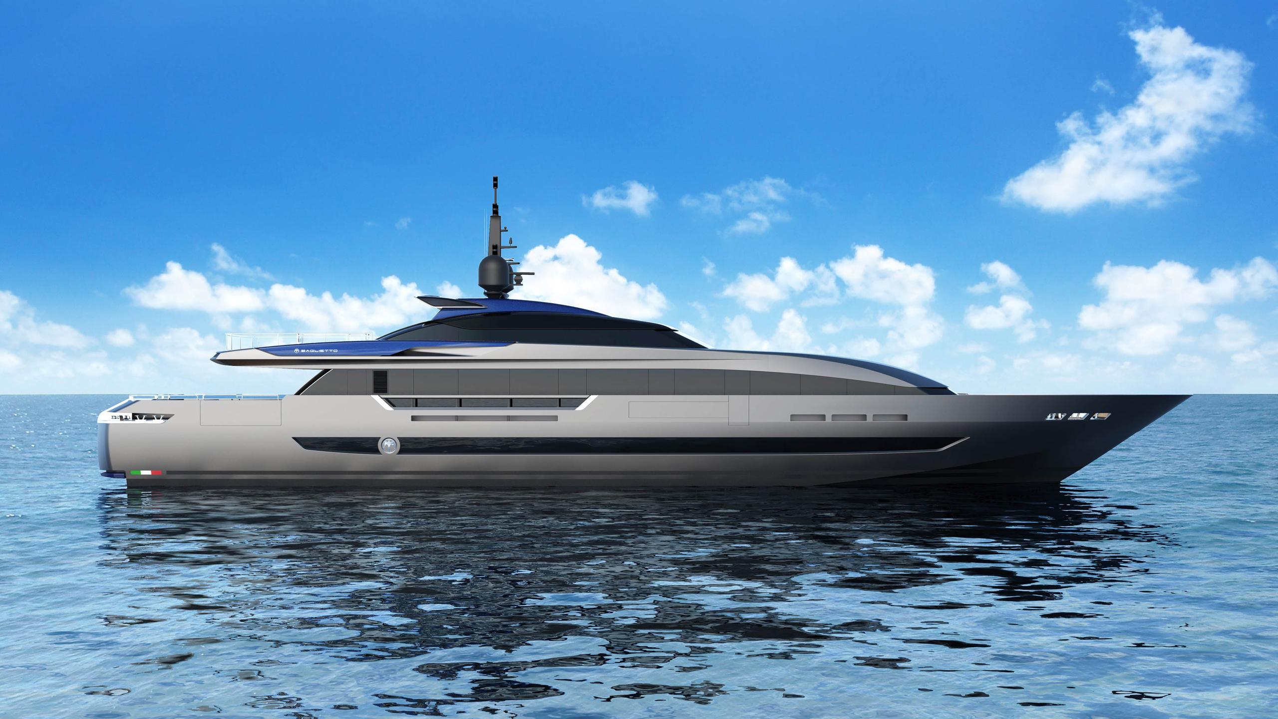 10226 motoryacht baglietto 2019 44m rendering profile