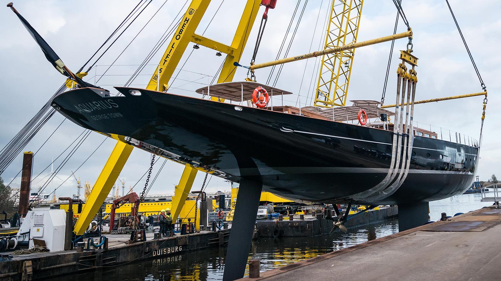 aquarius sailing yacht royal huisman 56m 2018 launch half stern