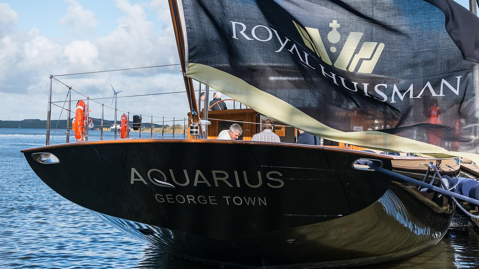 aquarius sailing yacht royal huisman 56m 2018 launch stern