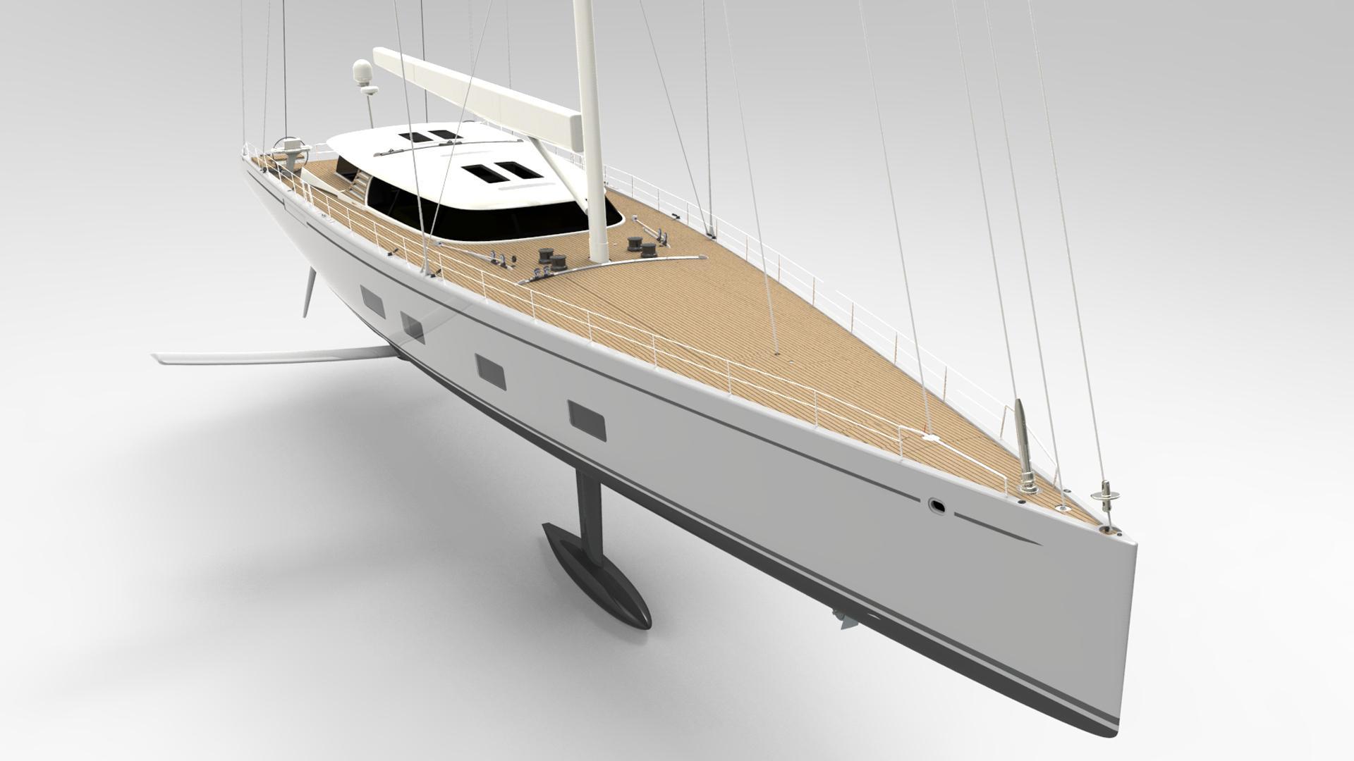 baltic 142 custom sailing yacht baltic yachts 43m 2019 rendering