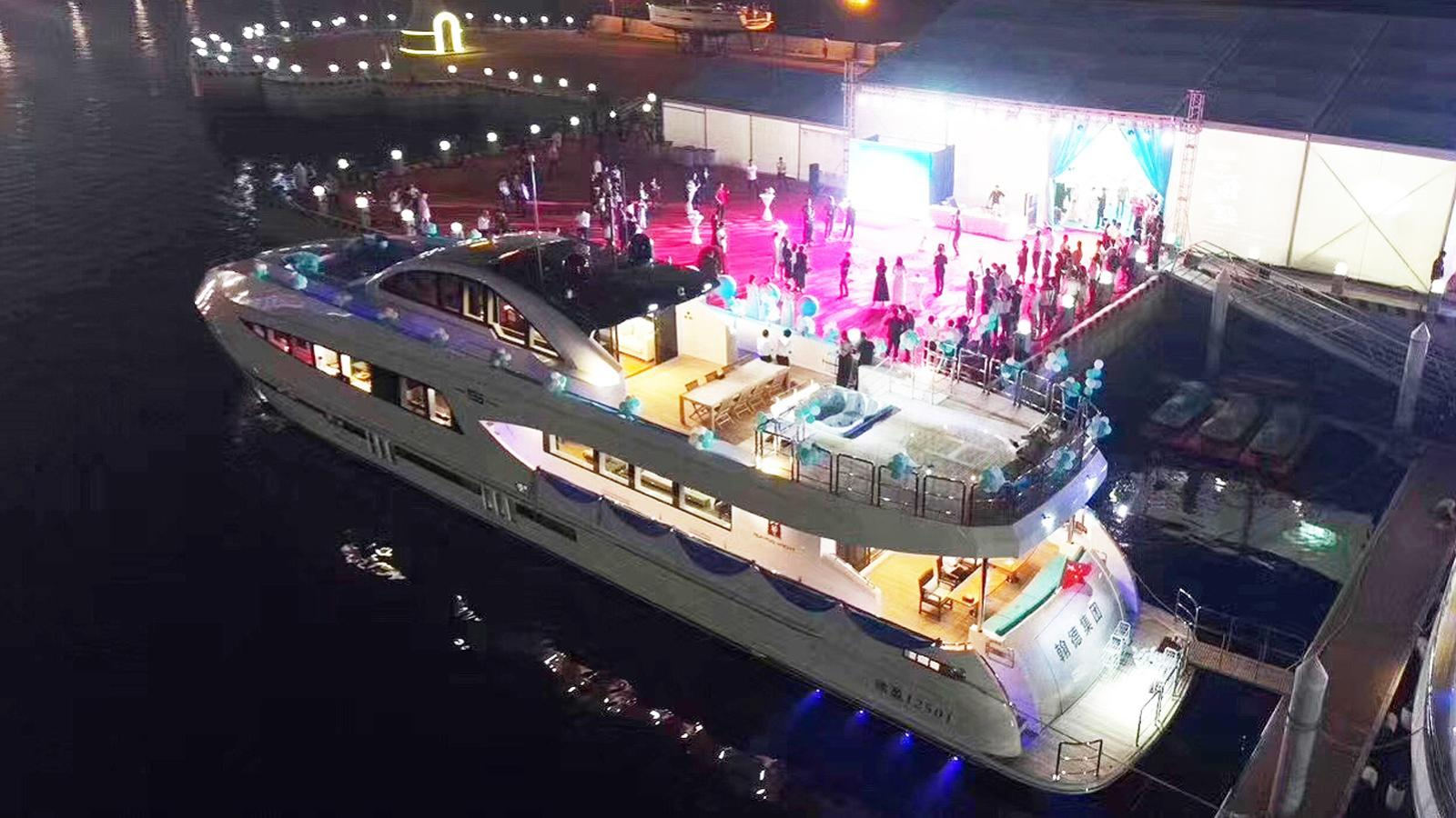 ry125 hull 1 motoryacht ruiying 38m 2017 launch ceremony