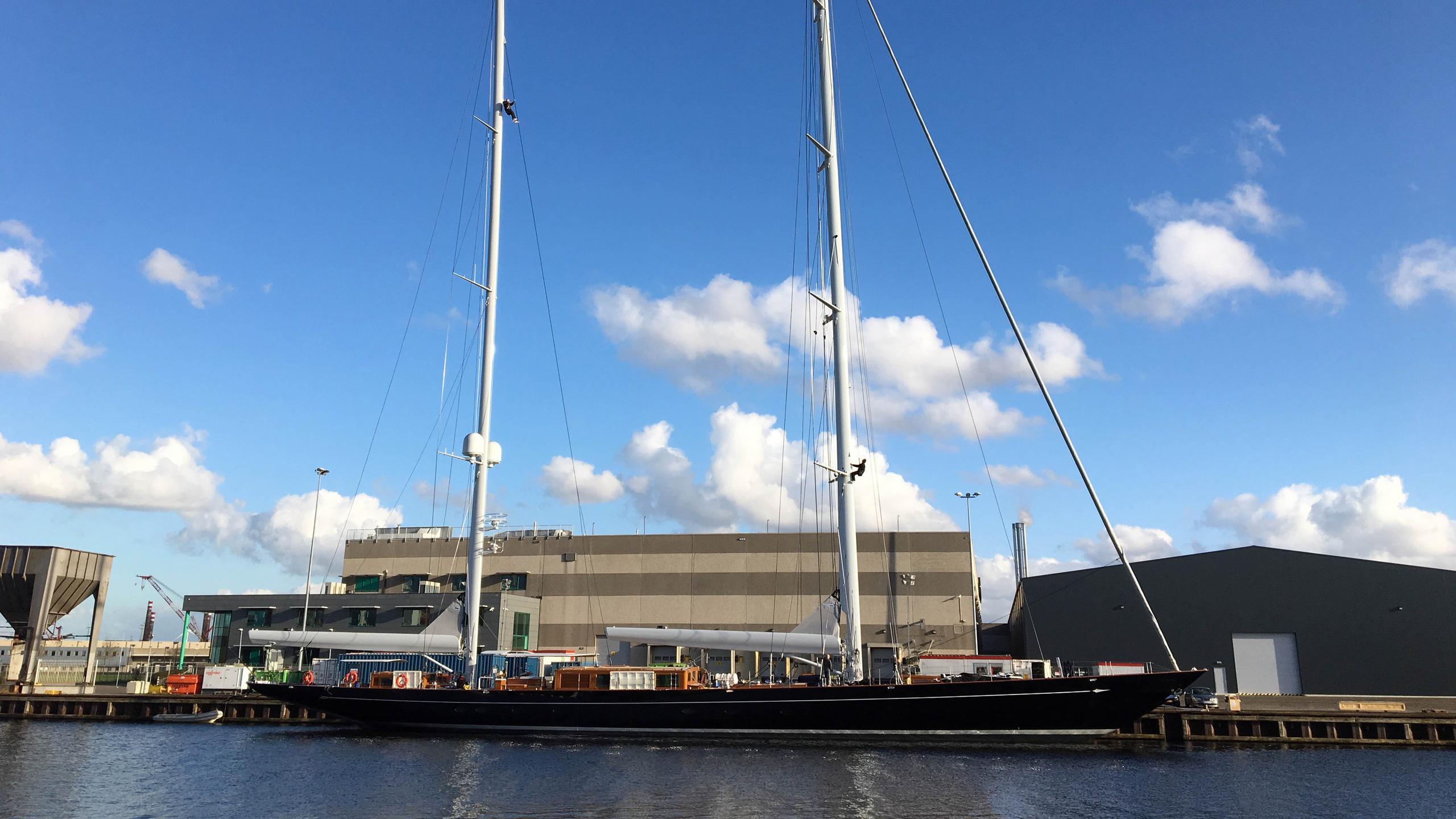 aquarius sailing yacht royal huisman 56m 2018 profile with masts