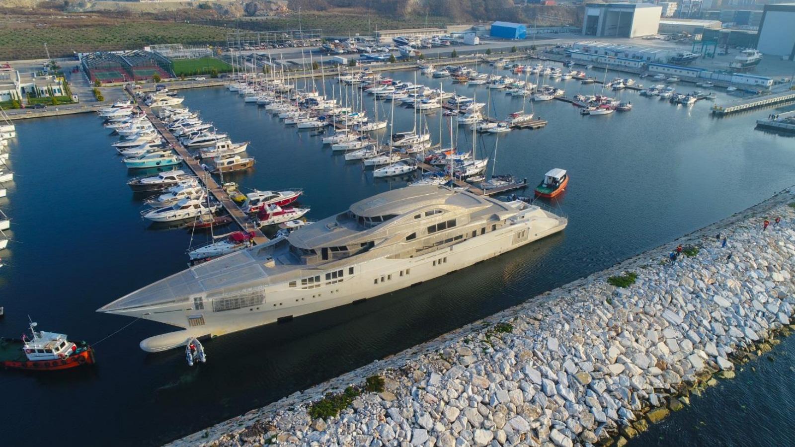 bilgin 263 motoryacht bilgin yacht 80m 2019 under construction aerial
