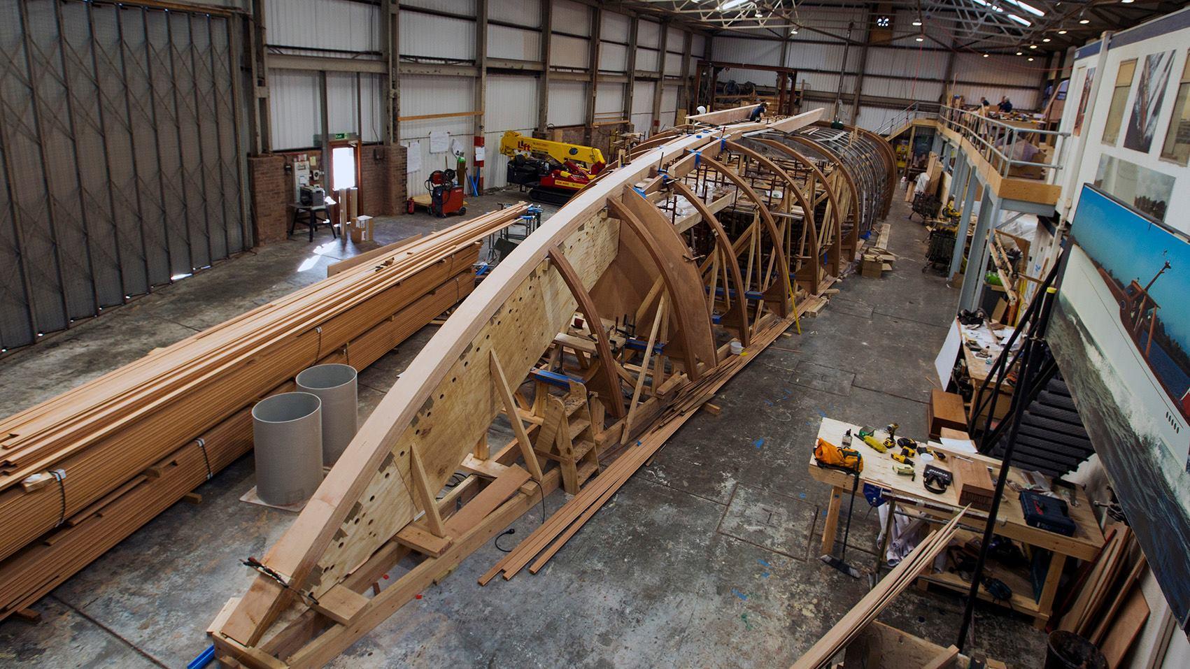 spirit 111 sailing yacht spirit yachts 34m 2019 under construction hull