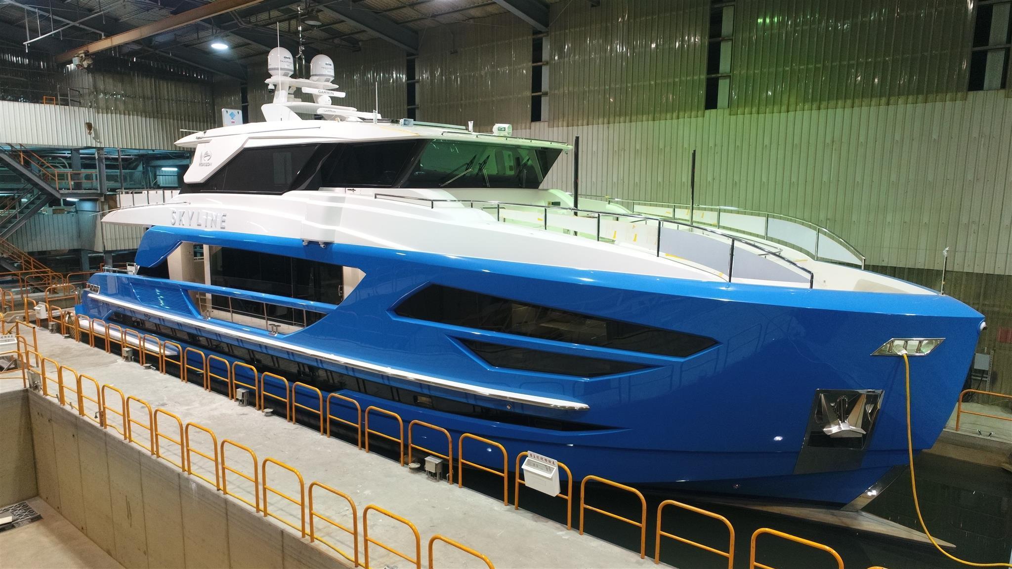 fd 87 skyline motoryacht horizon 2018 26m pre launch trials