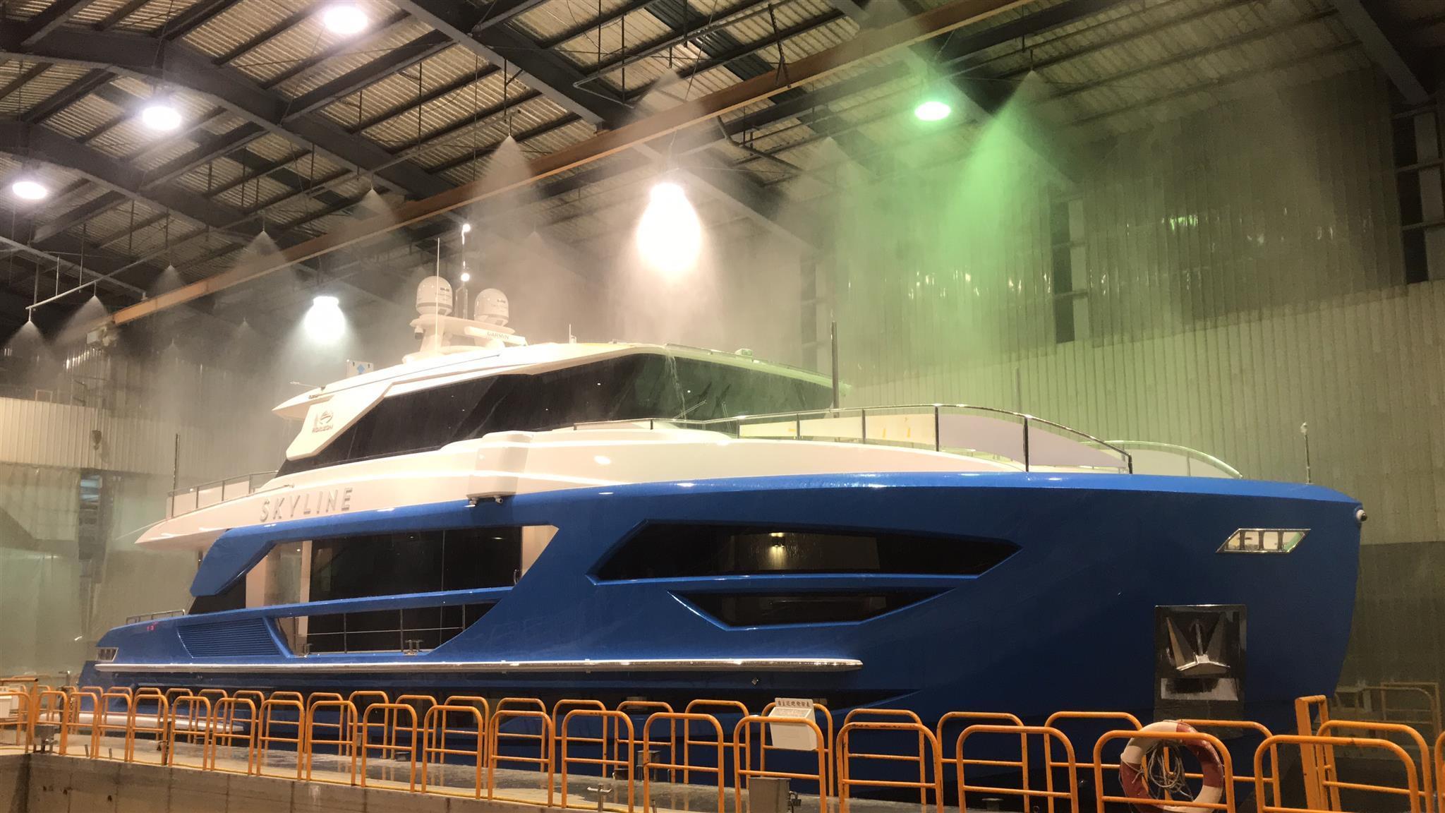 fd 87 skyline motoryacht horizon 2018 26m testing phases