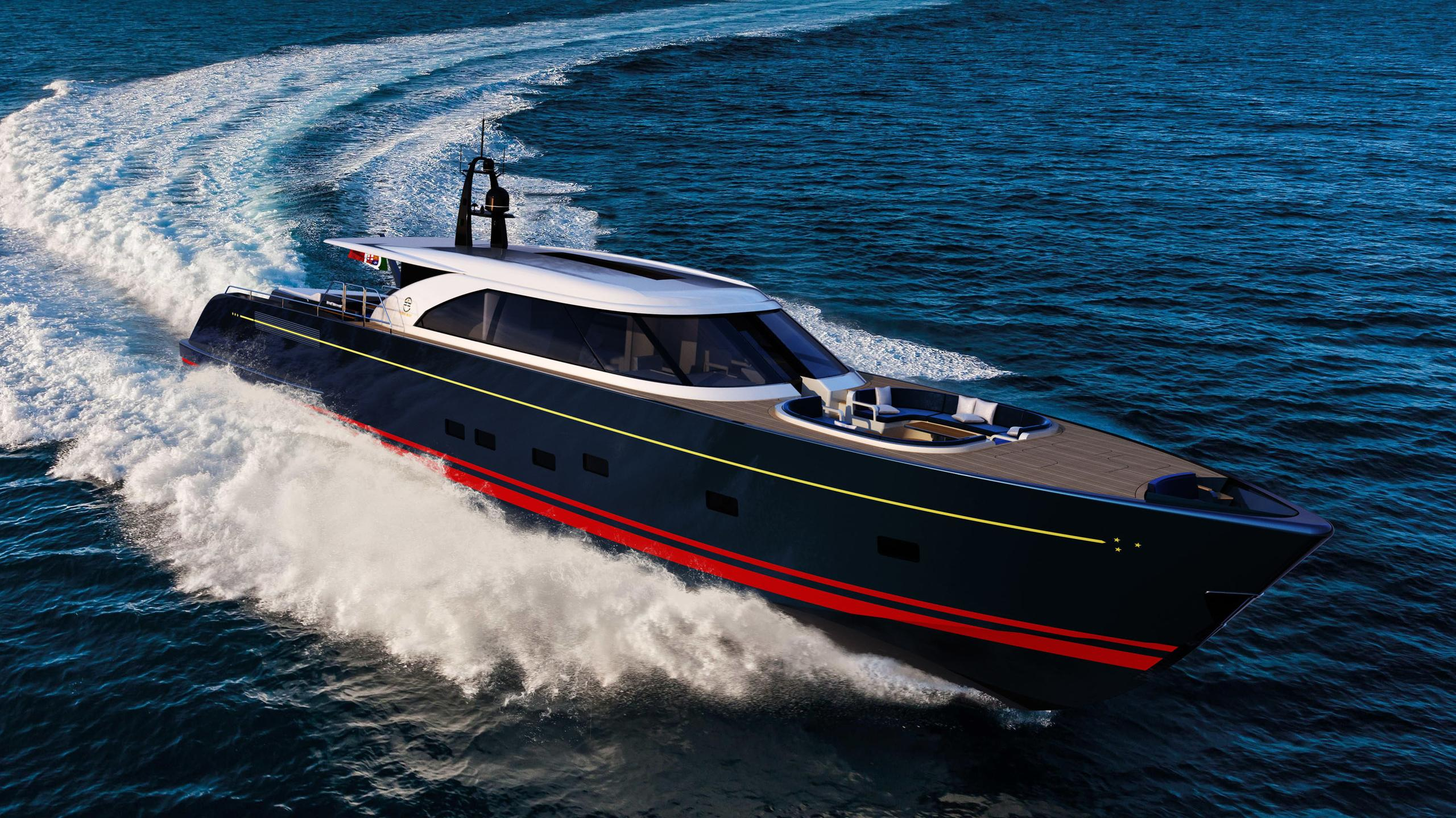 eco tender motoryacht perini navi 25m 2019 rendering