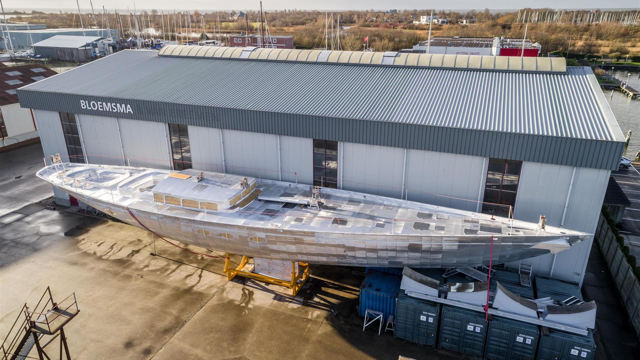 tc 128 sailing yachts ses yachts 39m 2019 under construction aerial