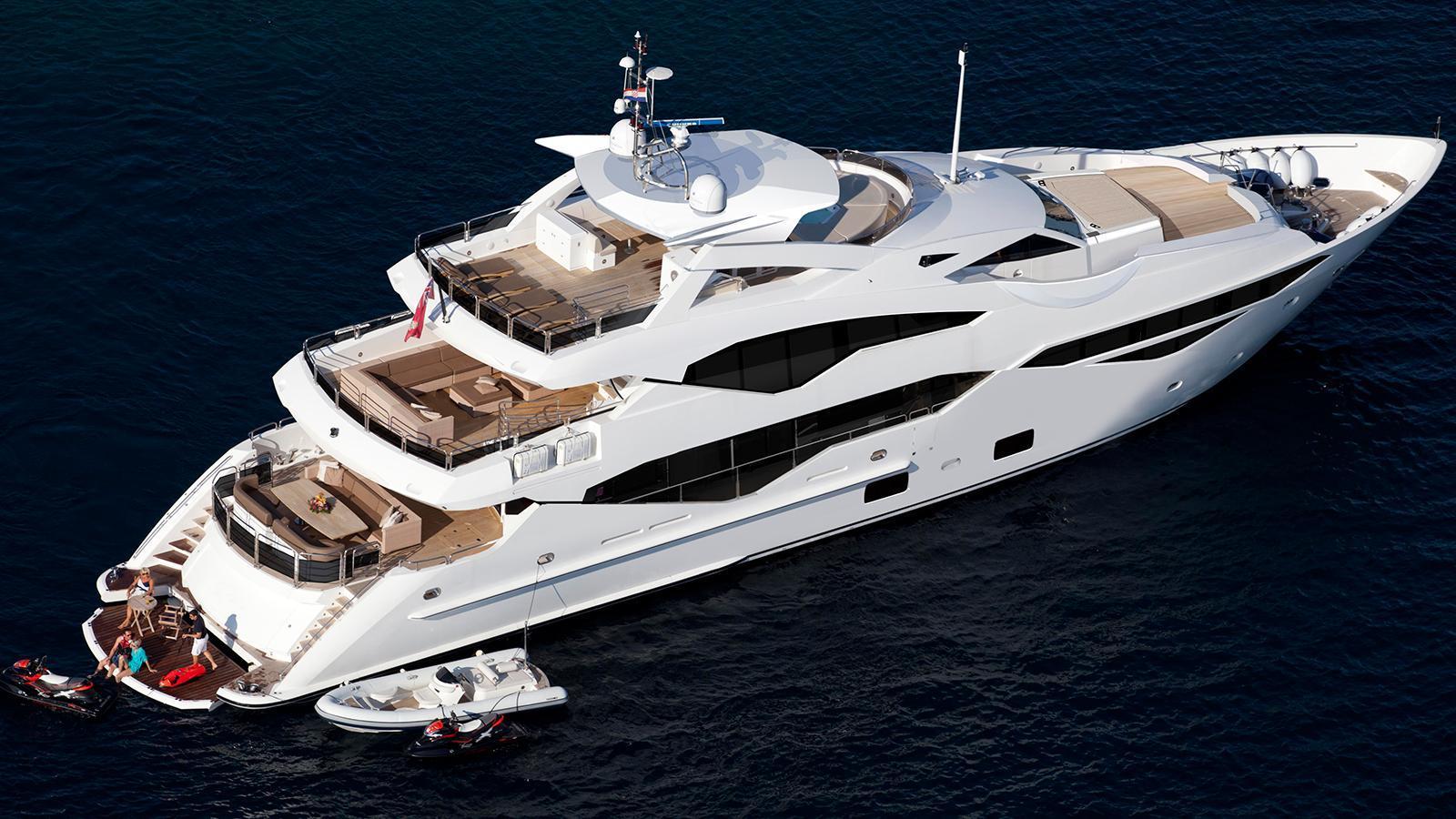 sunseeker 131 yacht 40m aerial sistership