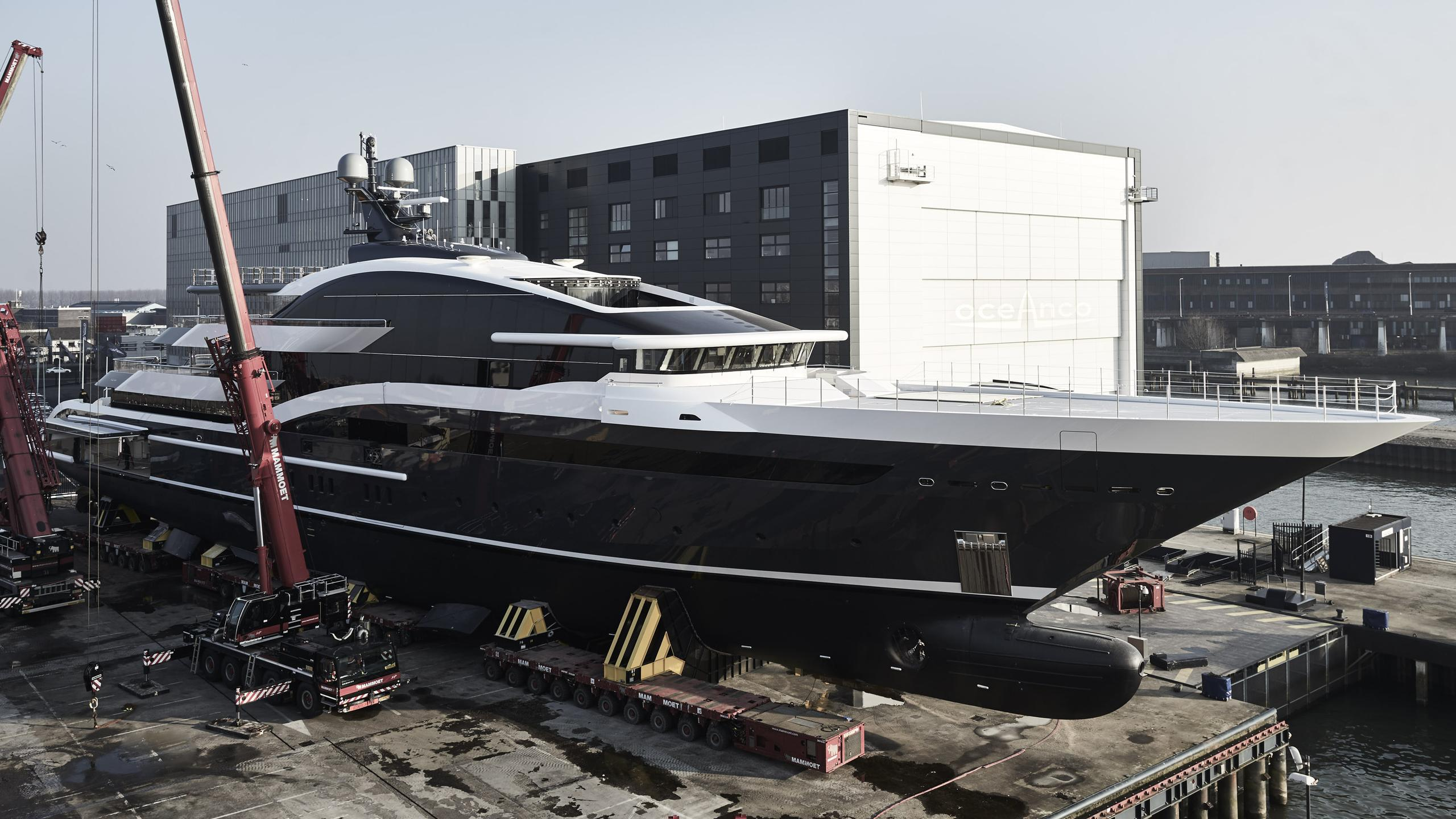 dar project shark y717 motoryacht oceanco 90m 2018 launch half profile