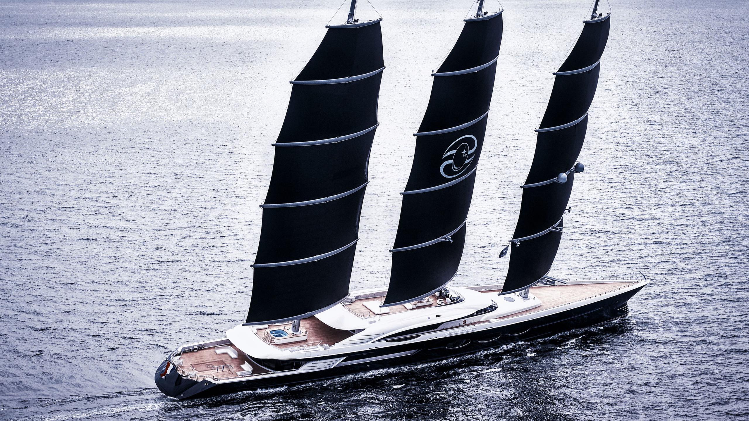 black pearl sailing yacht oceanco 107m 2018 half stern