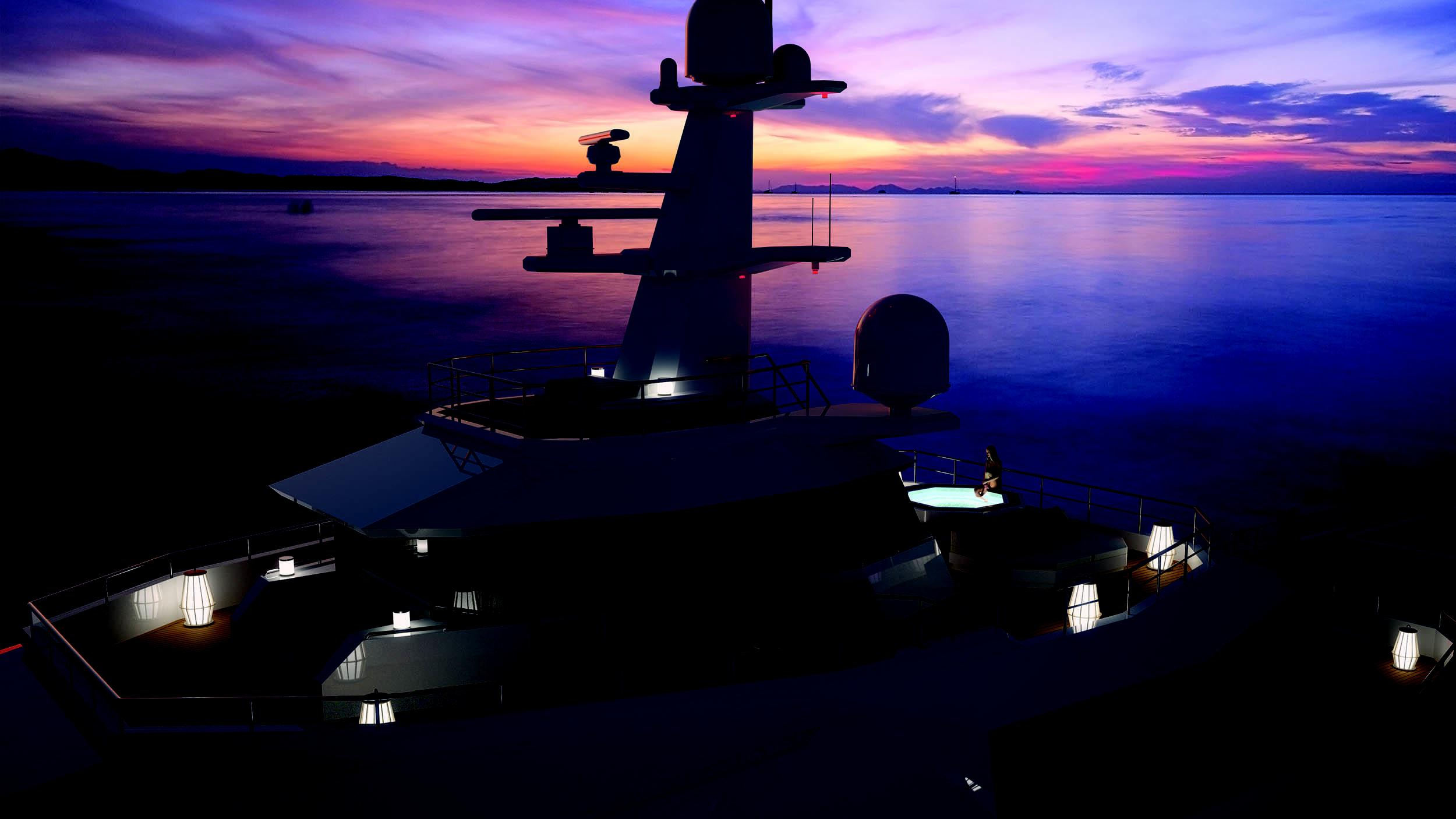 seaxplorer 77 motoryacht damen 77m 2020 rendering sundeck