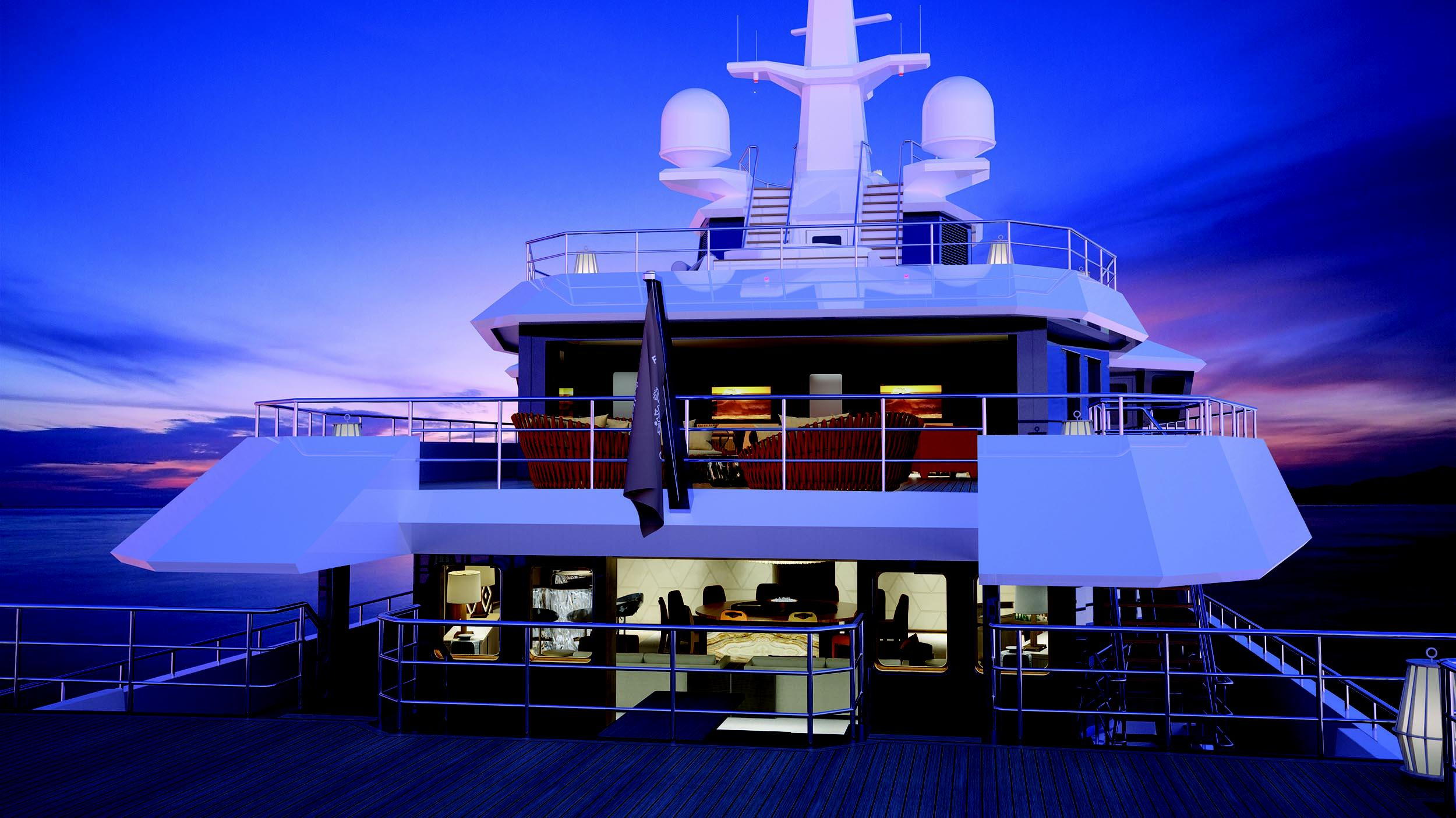 seaxplorer 77 motoryacht damen 77m 2020 rendering aft decks