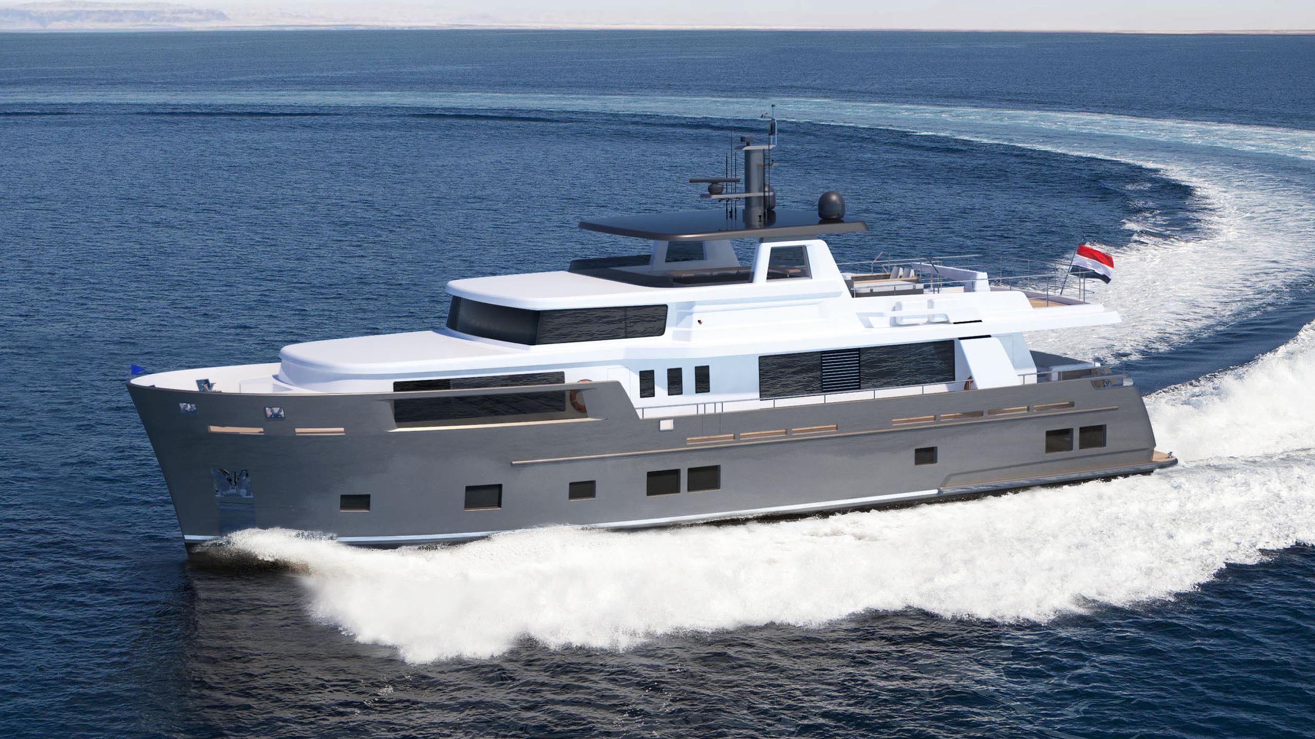 explorer vw0122 motoryacht van der valk 28m 2020 rendering