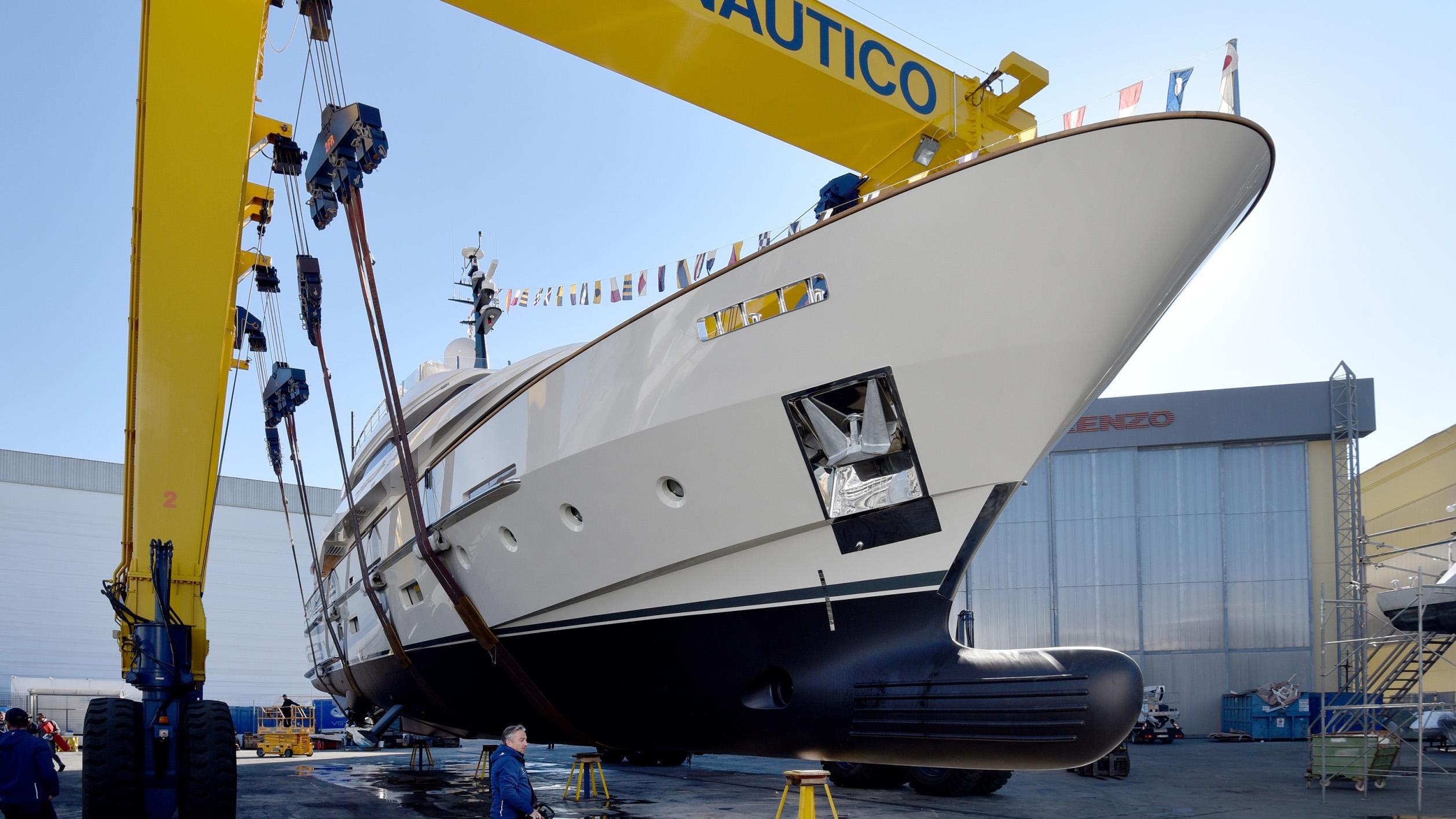 kia ora motoryacht sanlorenzo sd112 34m 2018 launch ceremony