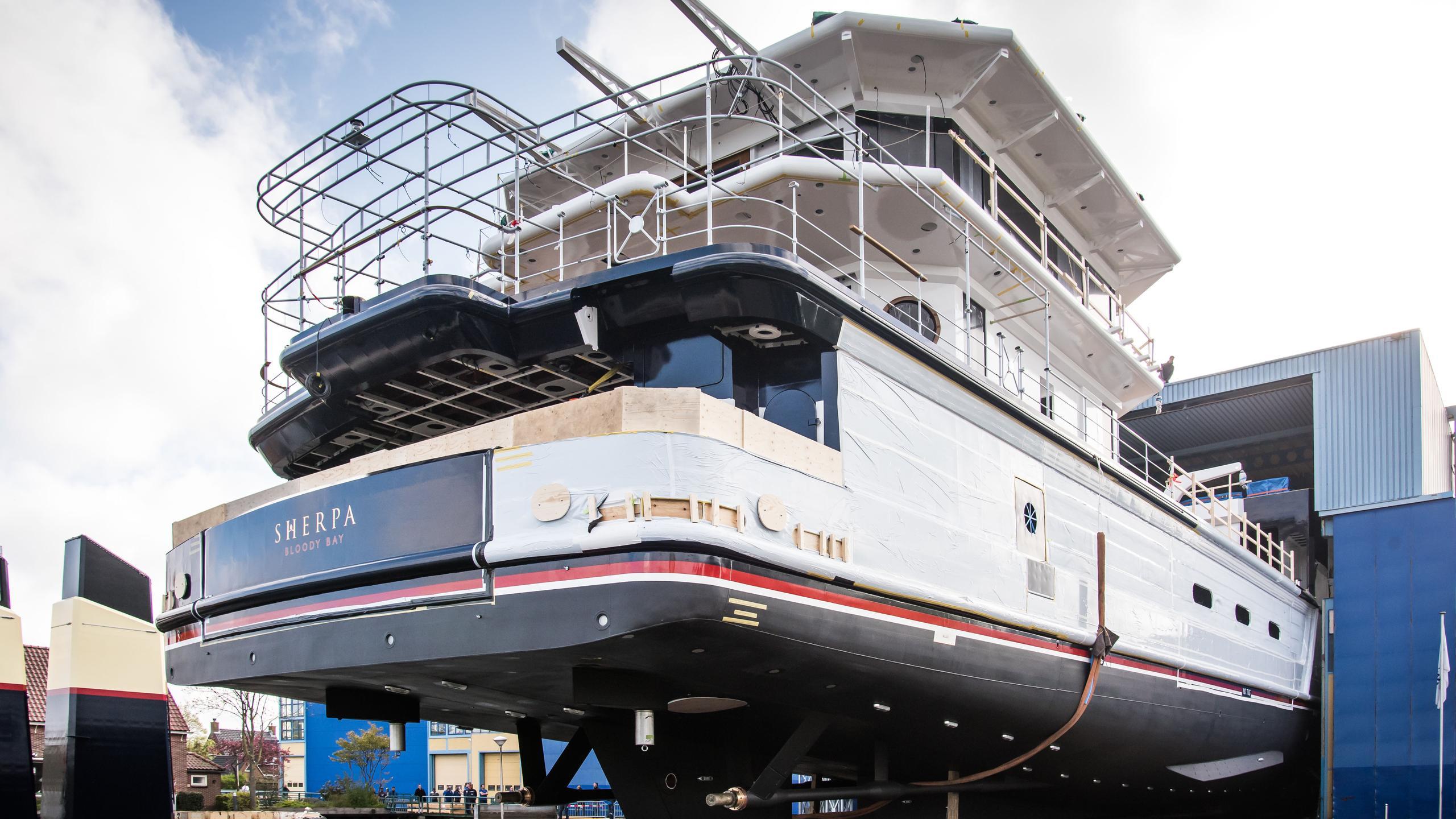 sherpa motoryacht feadship 74m 2018 launch stern