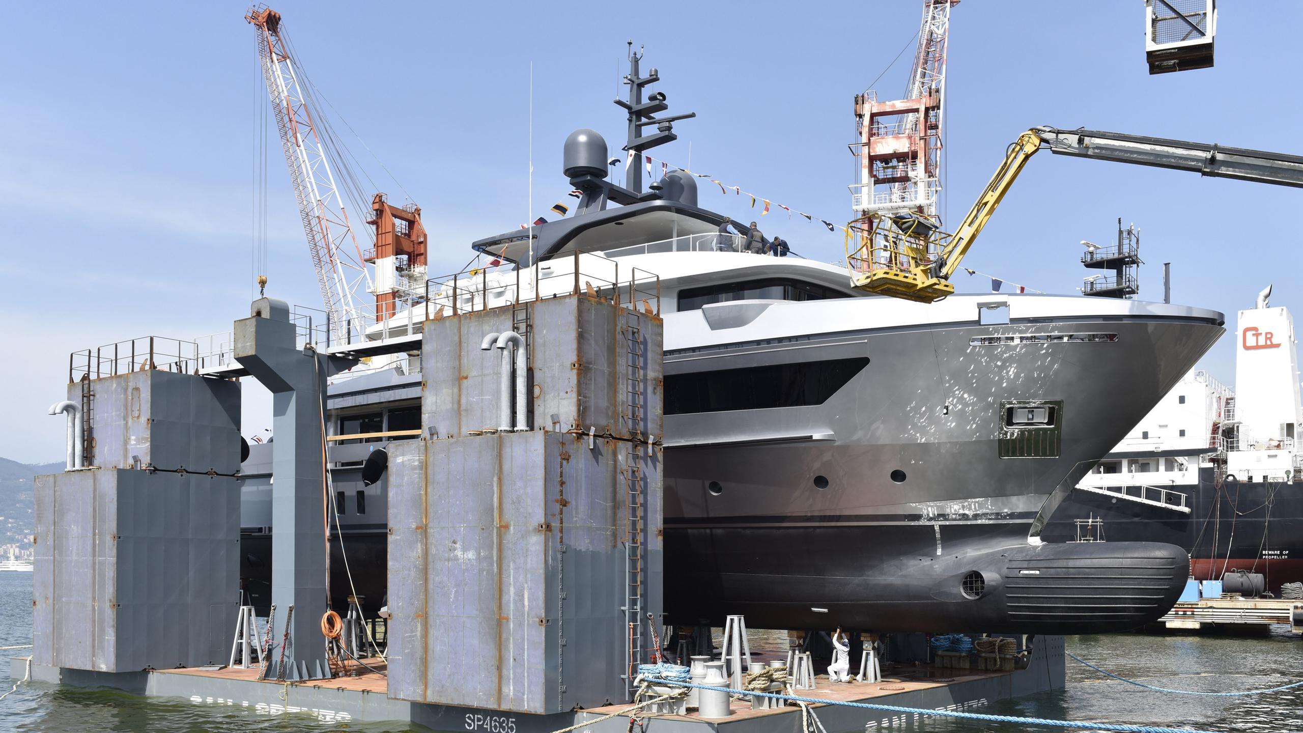 460exp 128 motoryacht sanlorenzo yachts 42m 2018 launch half profile