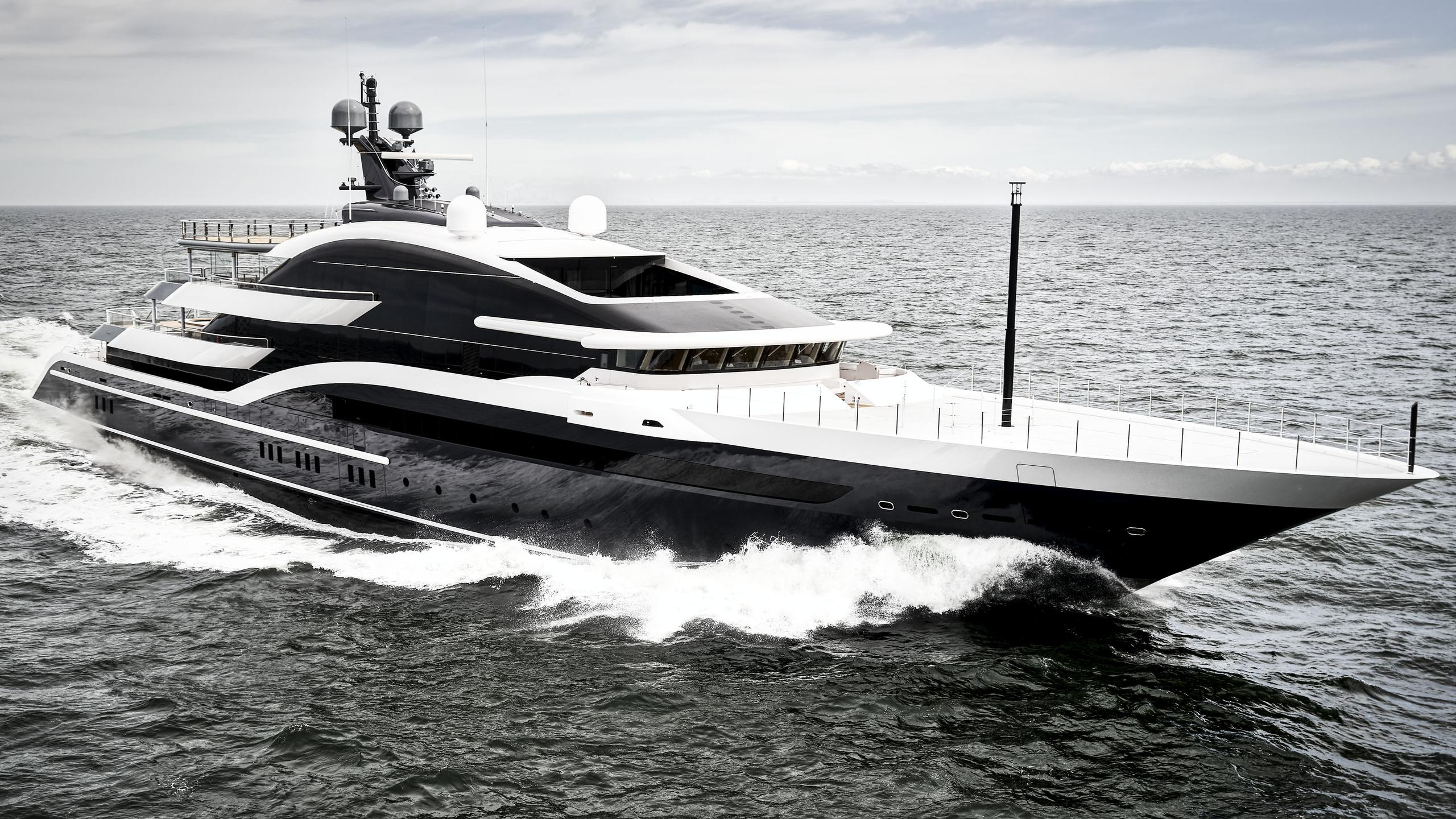 dar project shark y717 motoryacht oceanco 90m 2018 sea trials half profile